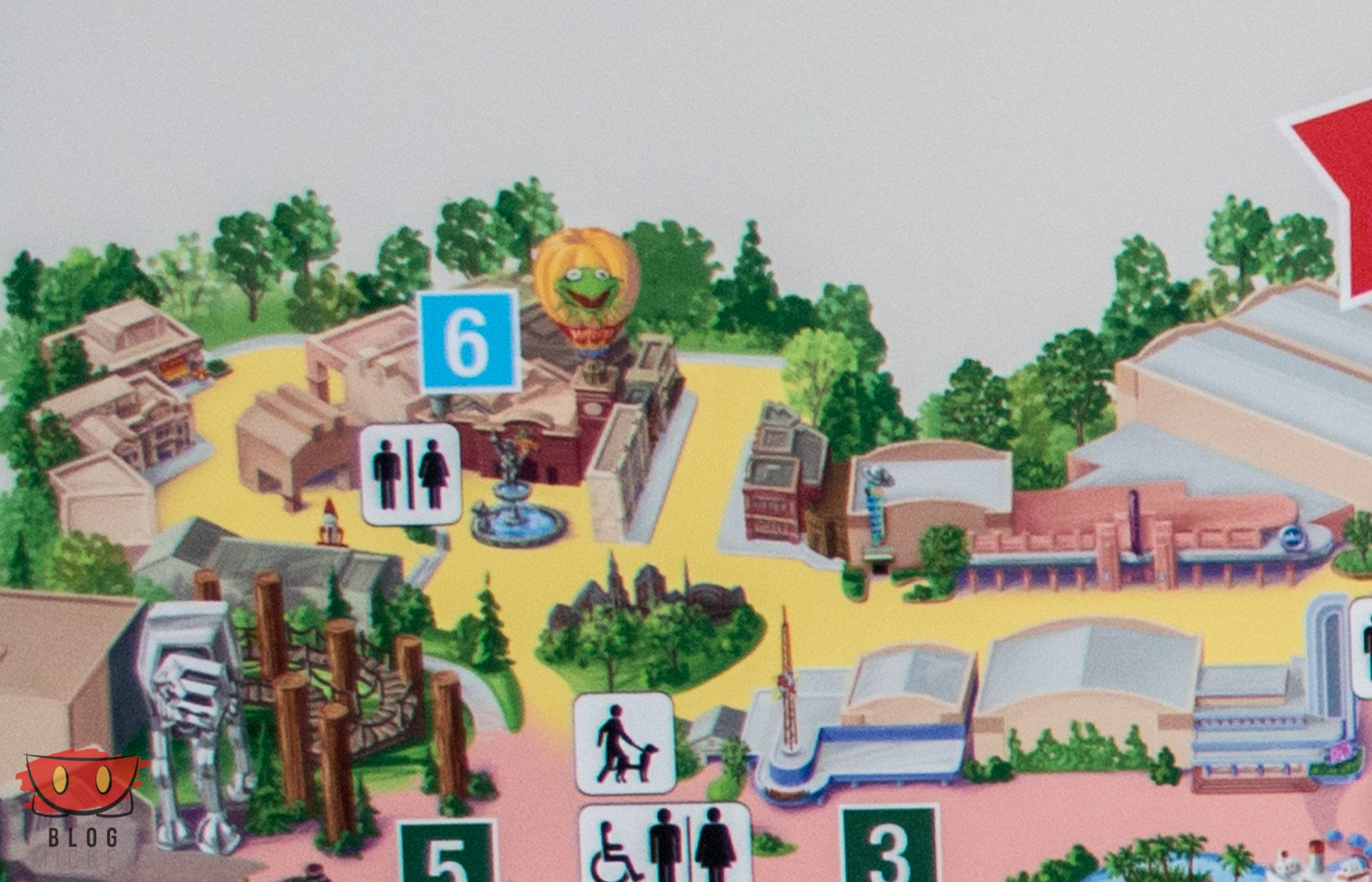 New in park maps at Hollywood Studios Blog Mickey