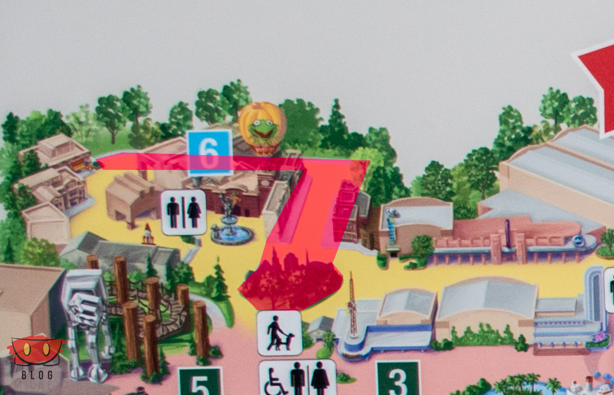 New in-park maps at Hollywood Studios - Blog Mickey