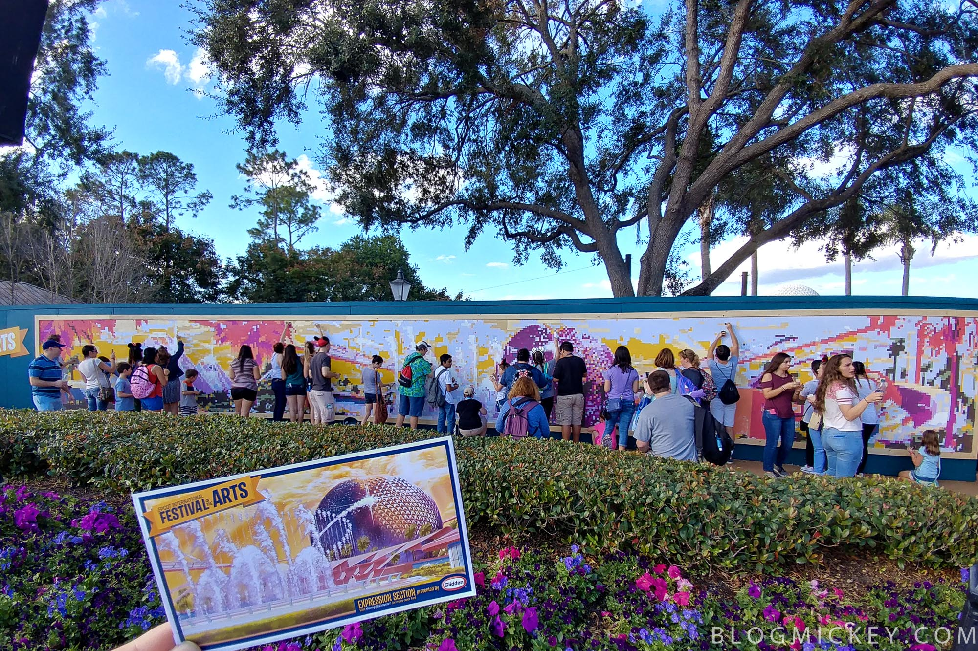 Photos Glidden Expression Section Paint By Numbers Wall At The Festival Of Arts Blog Mickey