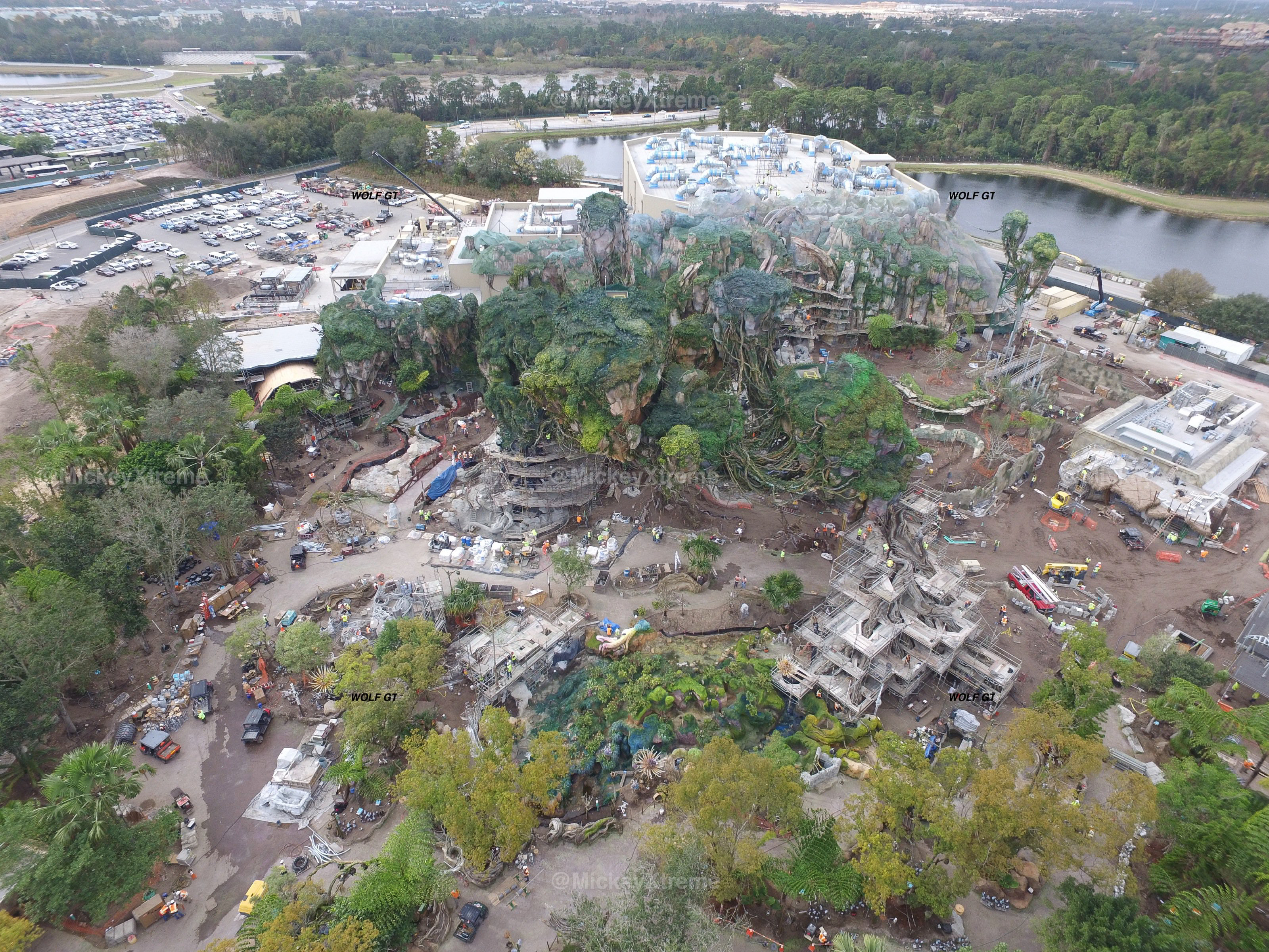 PHOTOS Early January Aerial Images Of Pandora At Animal Kingdom