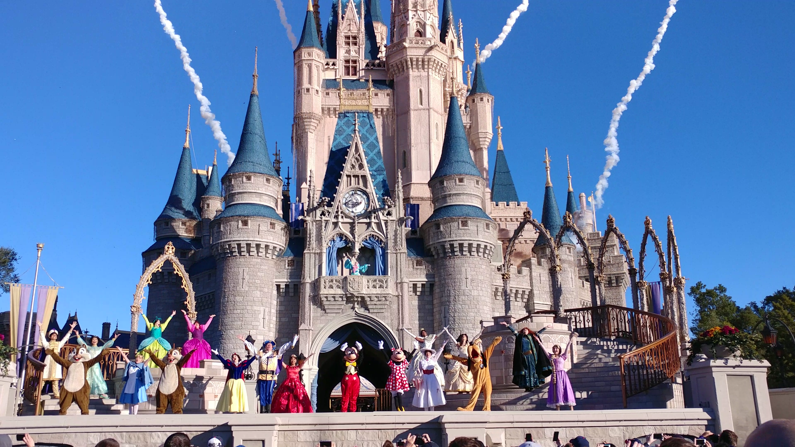 video - new 'let the magic begin' magic kingdom welcome show in