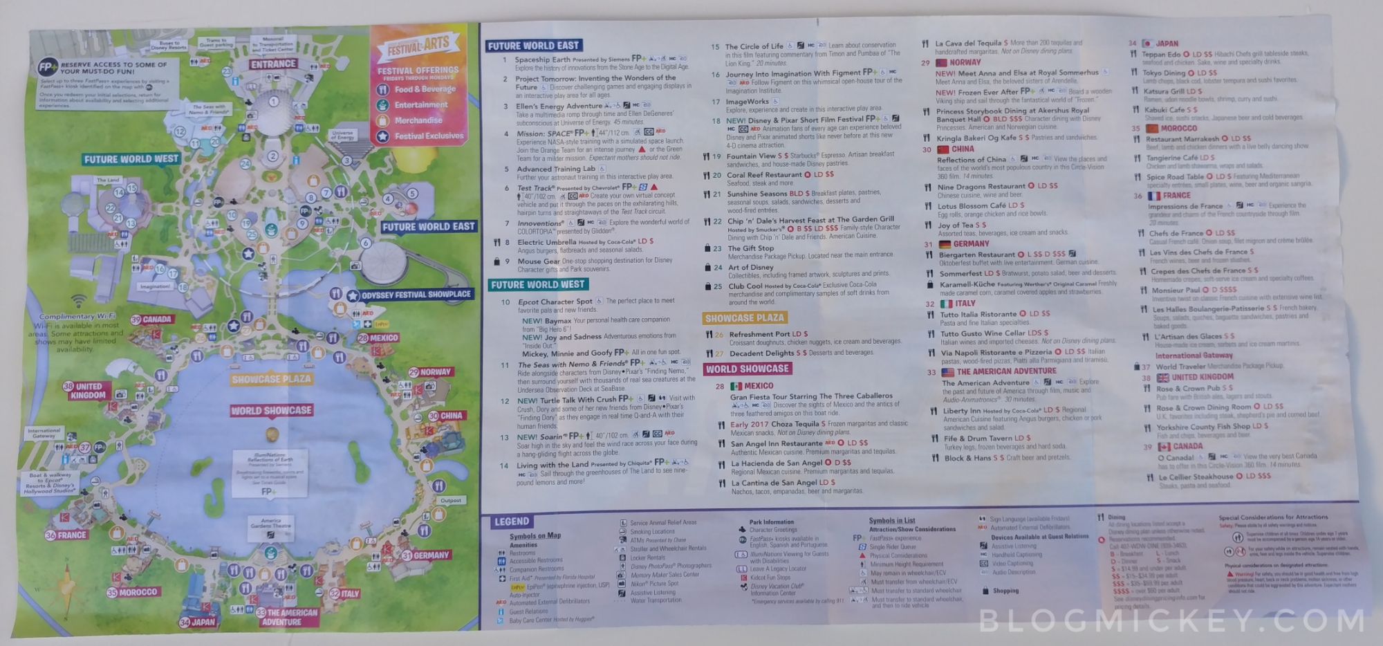 PHOTOS - Epcot Festival of the Arts guide map - Blog Mickey