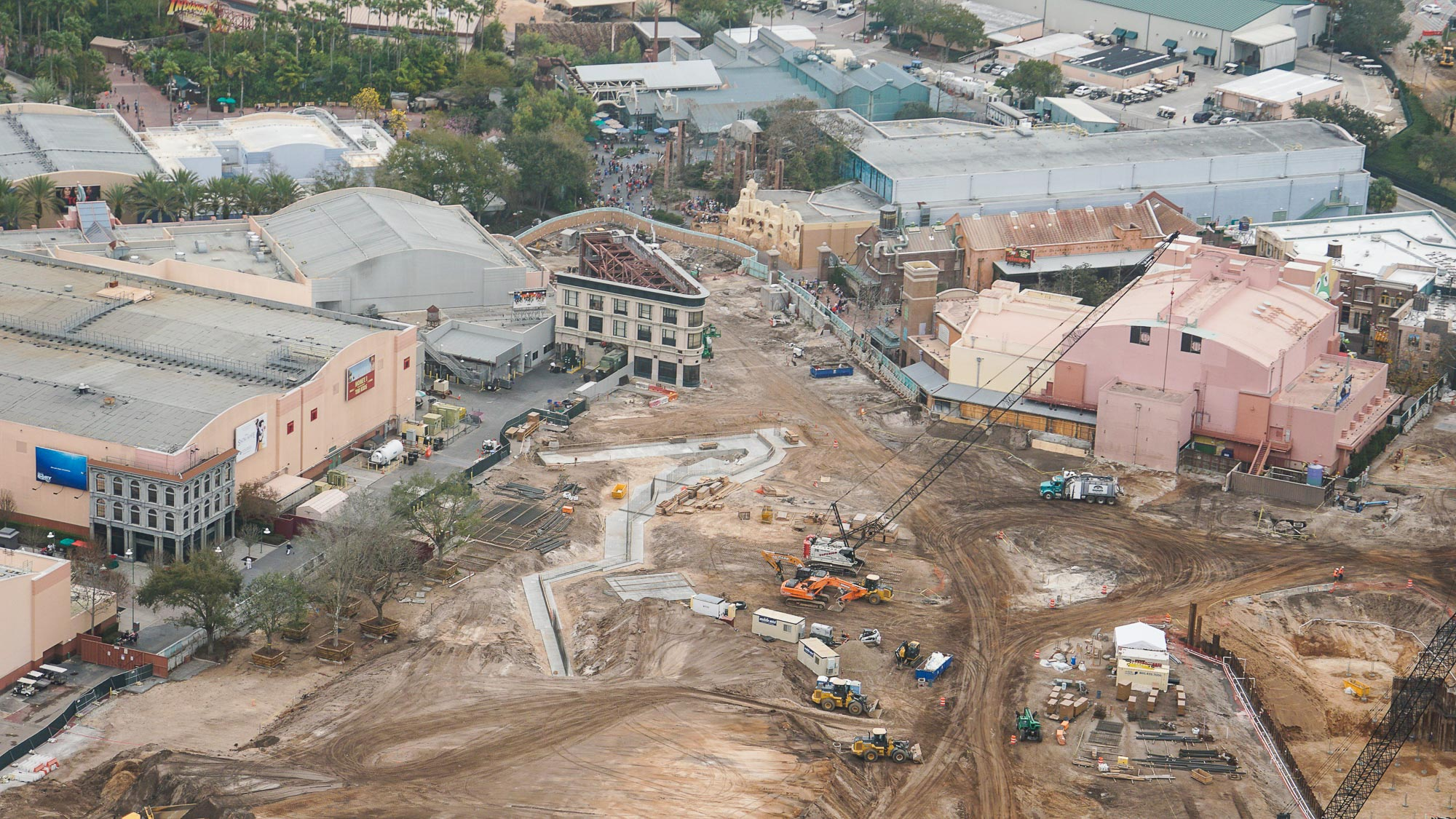 photos   star wars land vertical construction now visible