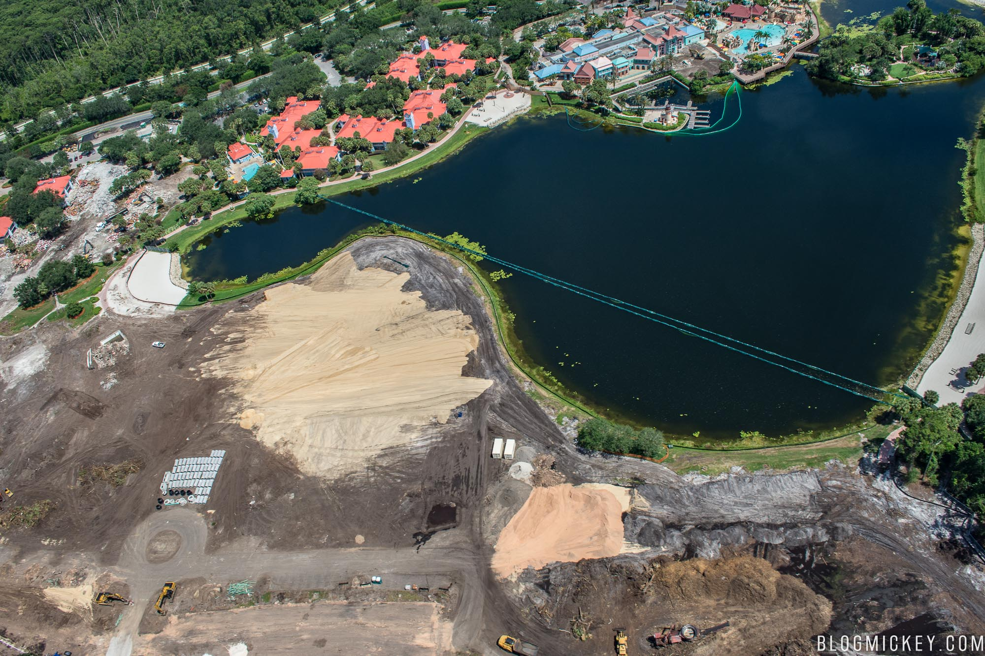 Well Be Sure To Include This Massive Expansion Of Caribbean Beach In Future Aerial Flight Updates On Blog Mickey As We Watch The Tower Rise Out