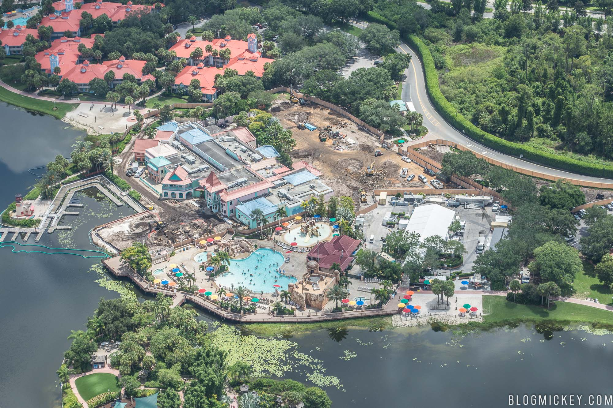 PHOTO Disneys Caribbean Beach Resort Centertown Construction July 2017