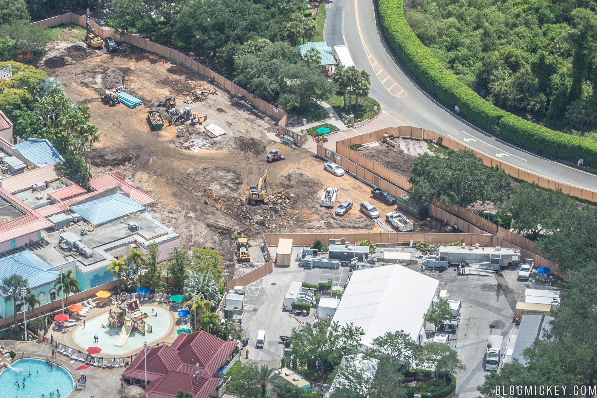Photo Disney S Caribbean Beach Resort Centertown Construction July