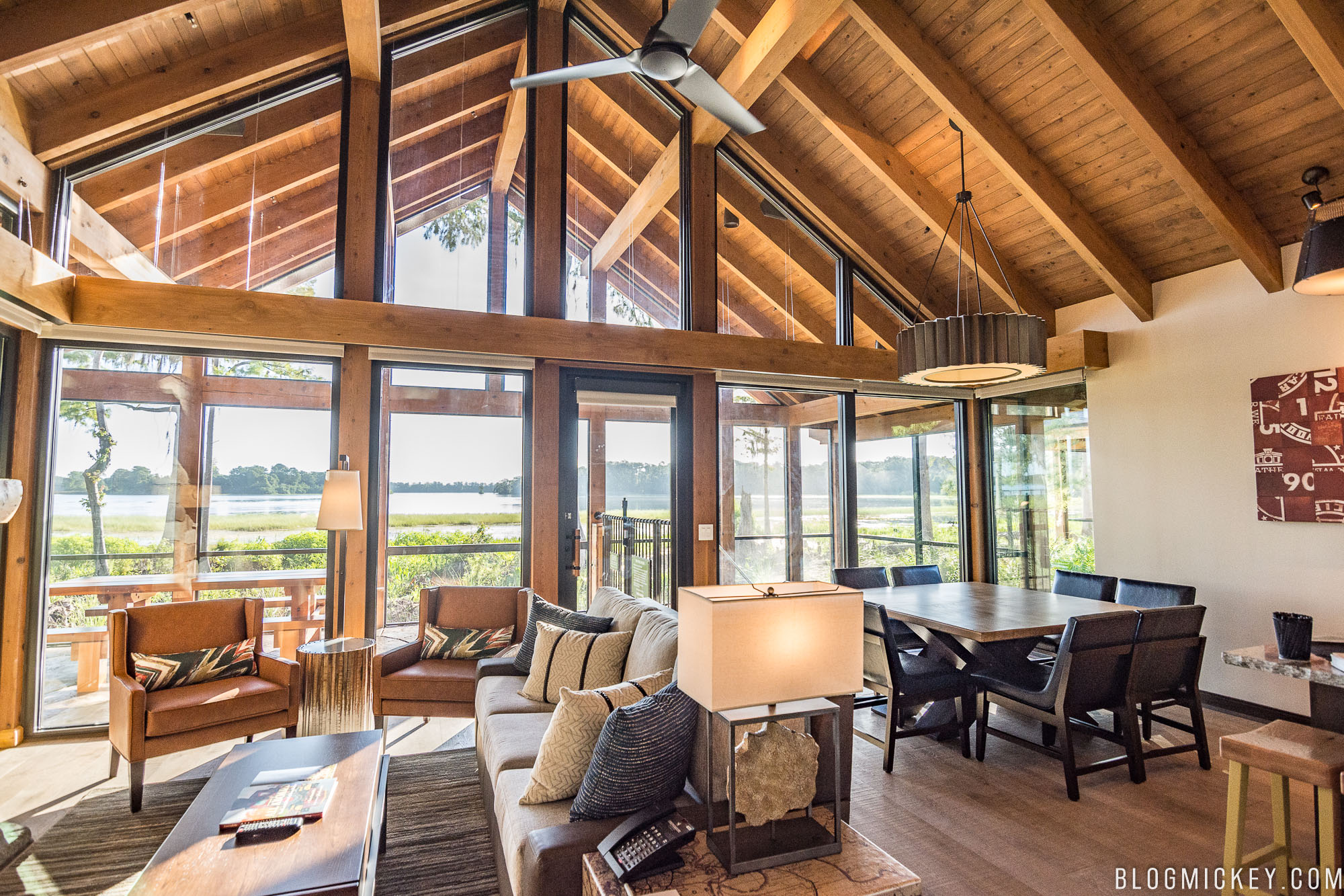 ... And The Payoff Moment For The Cascade Cabins. The Spacious Living Room  Features All Of The Natural, Warm Tonal Elements That You Would Expect From  A ...