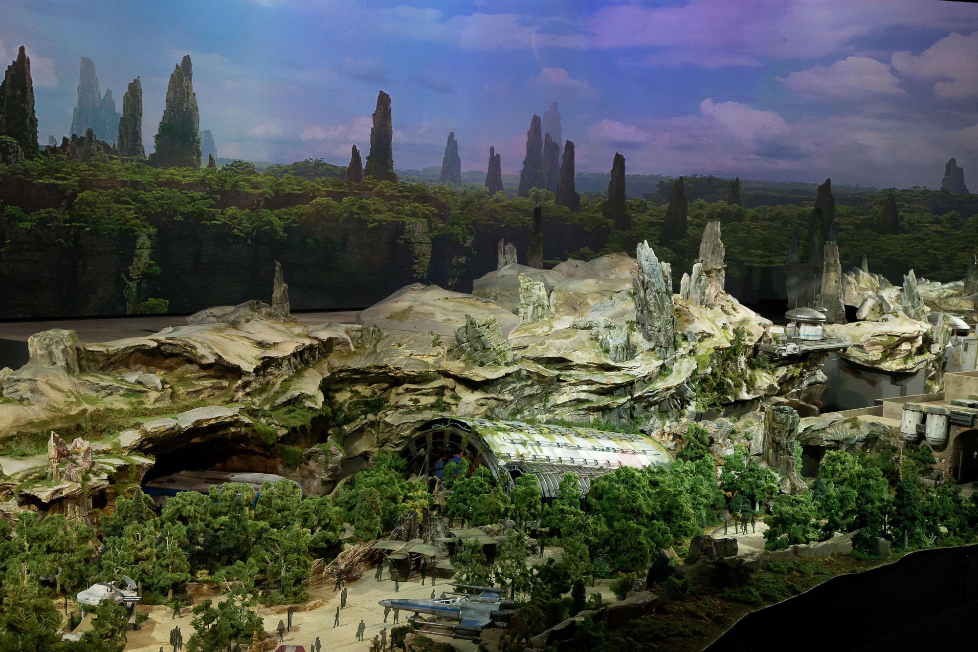 PHOTOS + VIDEO: Star Wars Land Model at D23 Expo - Blog Mickey
