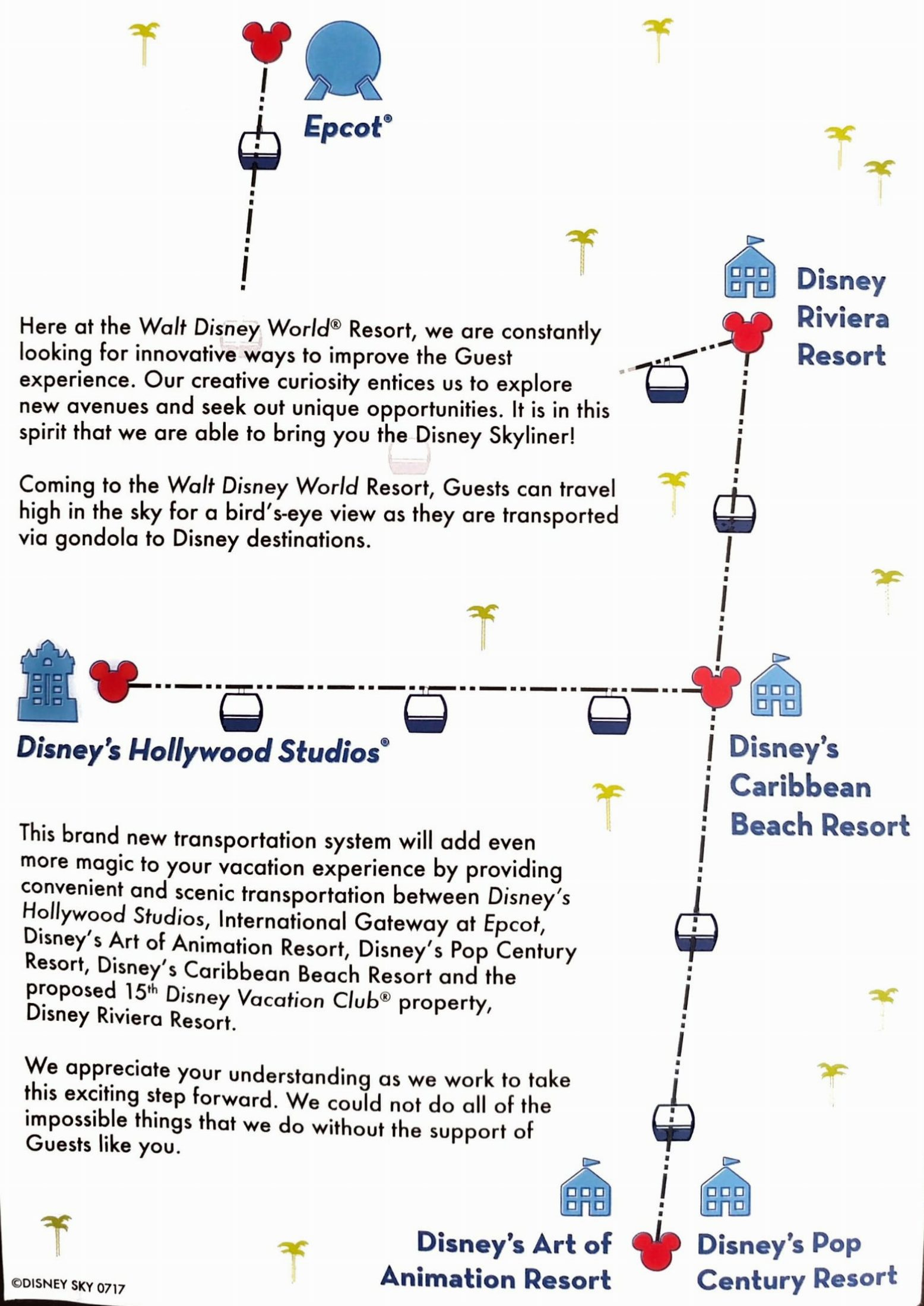 Newly Announced Disney Riviera Resort And The Skyliner Gondola System Has Started To Hand Out Flyers Guests That Describes