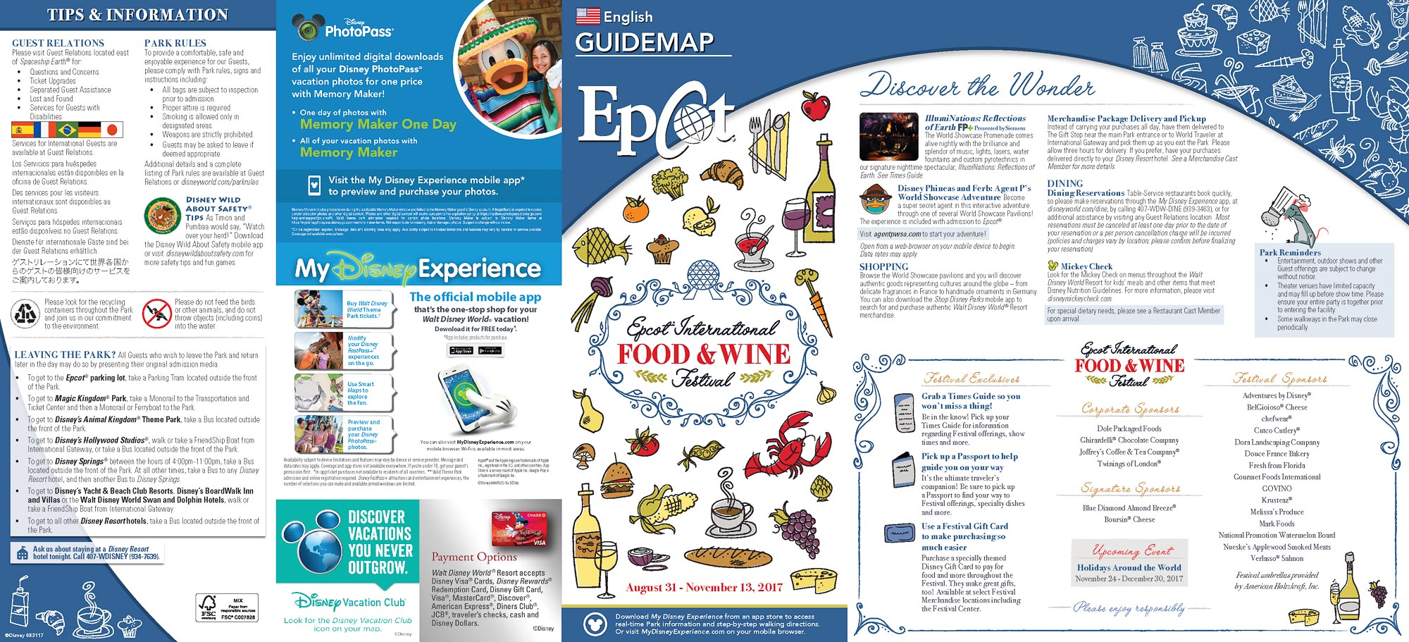 2017 Epcot Food And Wine Festival Guidemap Blog Mickey