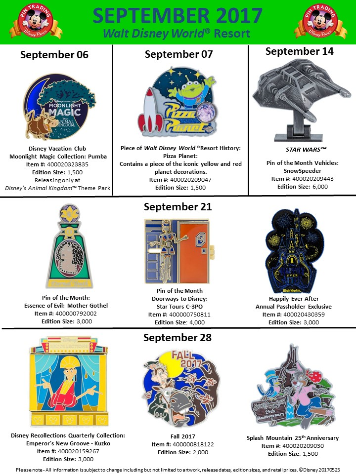 New September Pins And Epcot 35th Anniversary Pins Revealed Blog