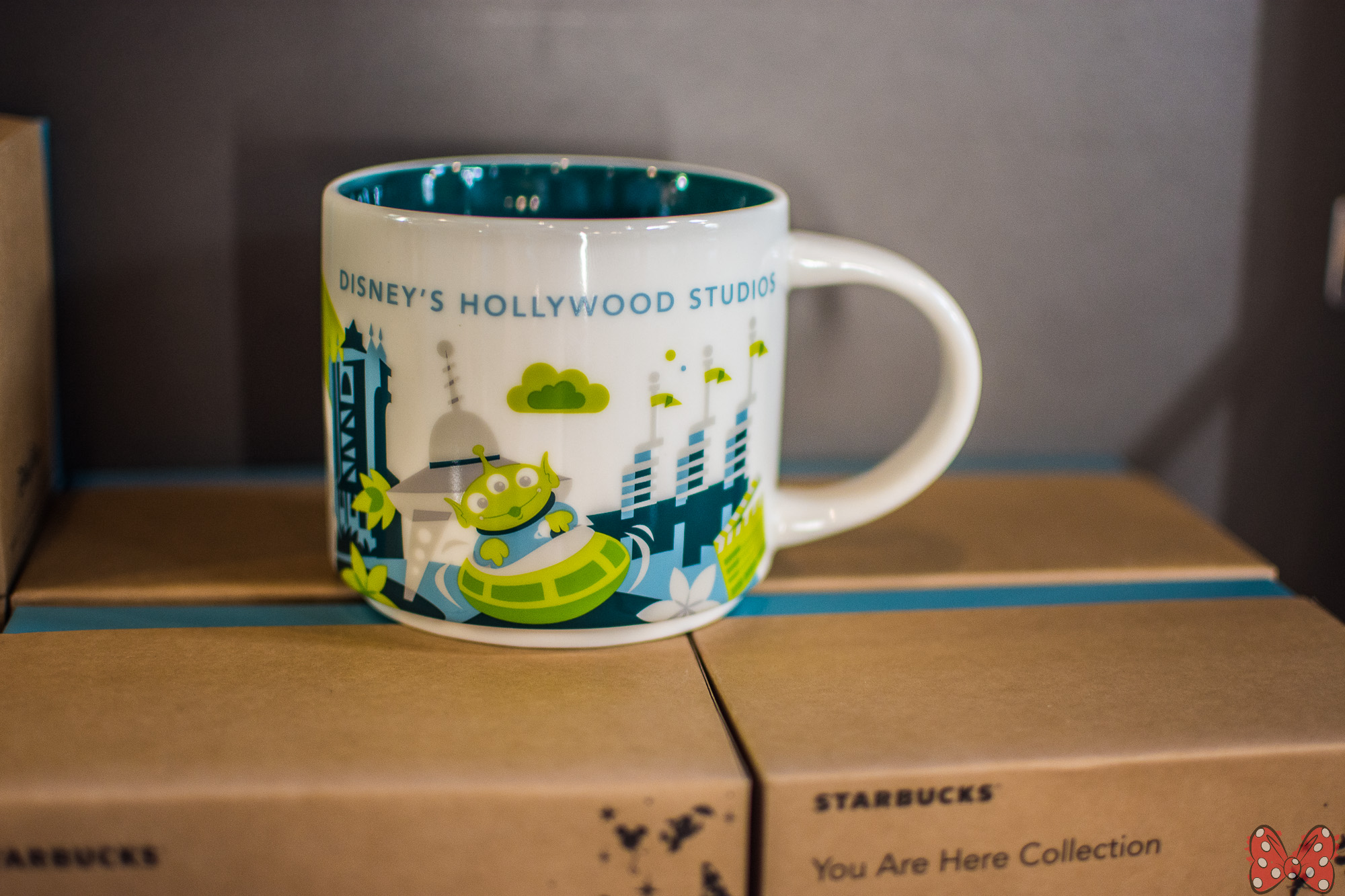 "new hollywood studios starbucks ""you are here"" mug features alien"