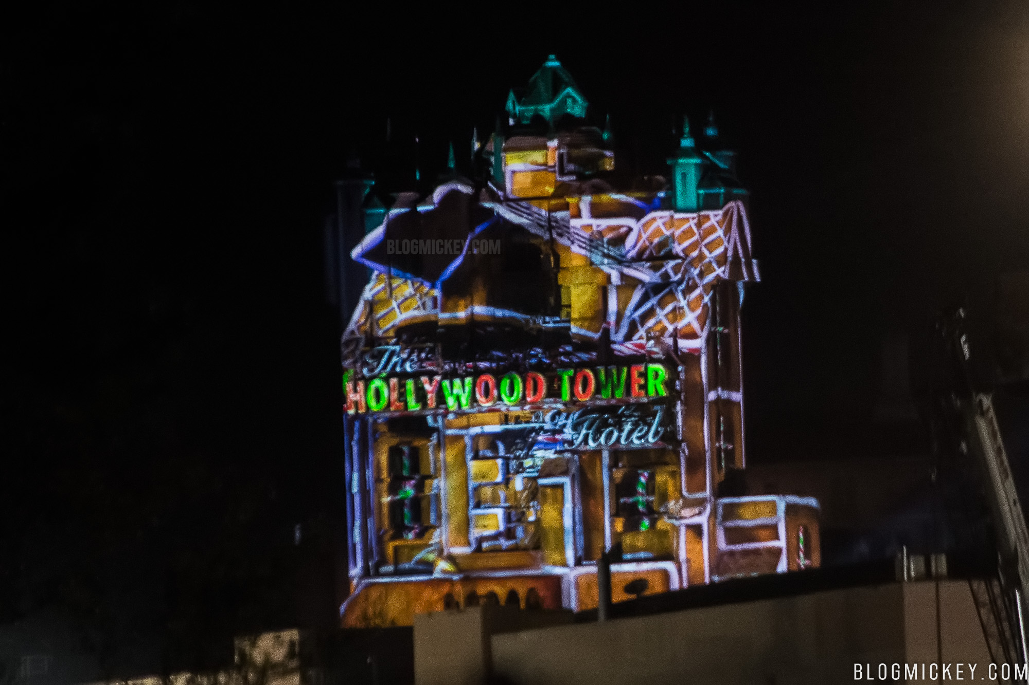 Photos Projection Testing On Tower Of Terror Begins For Sunset