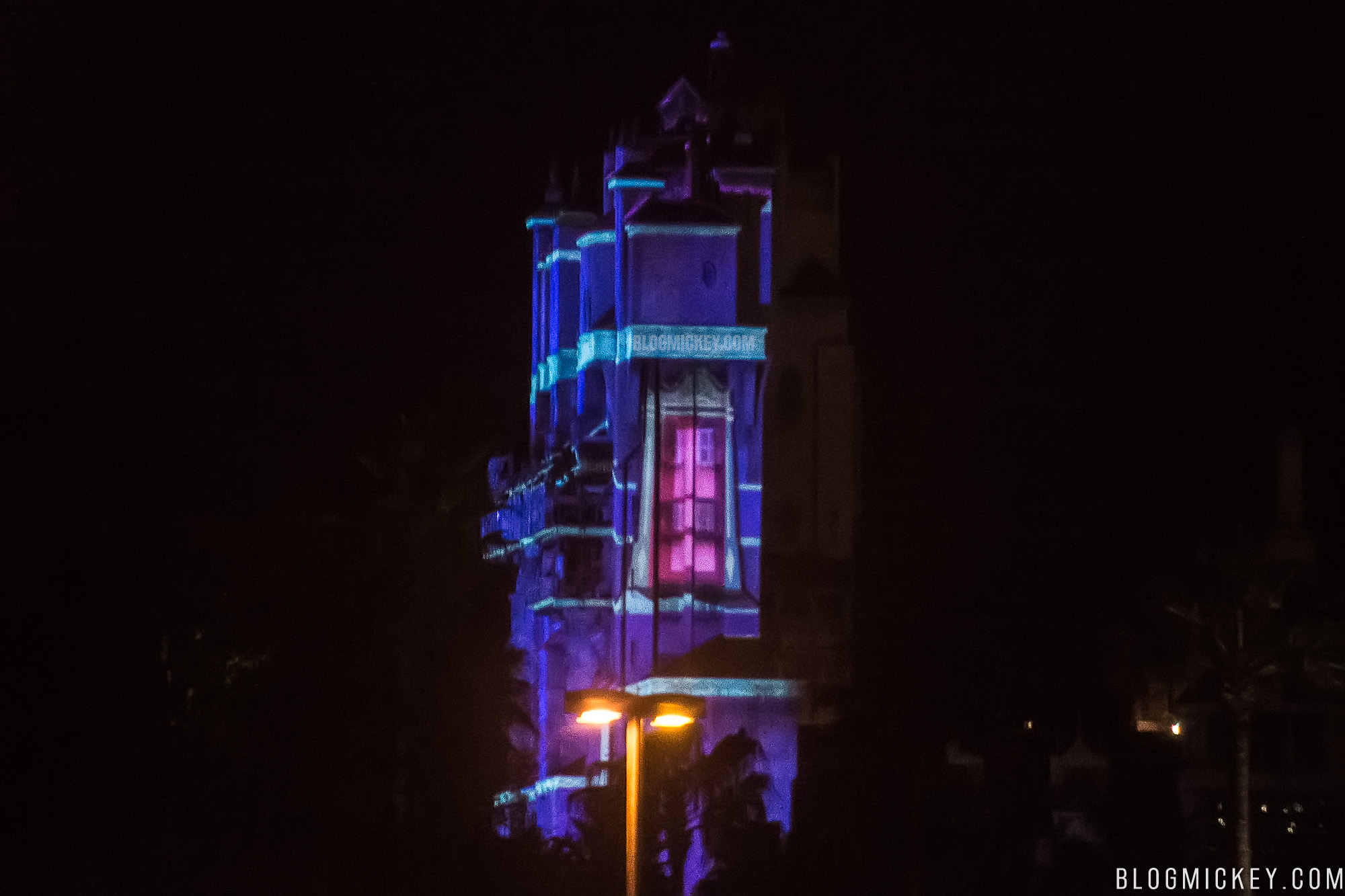 Photos Projection Testing On Tower Of Terror Begins For