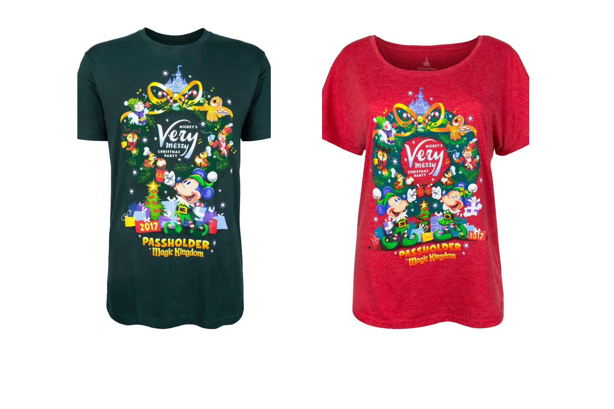 Mickey\'s Very Merry Christmas Party Annual Passholder Shirts Now ...
