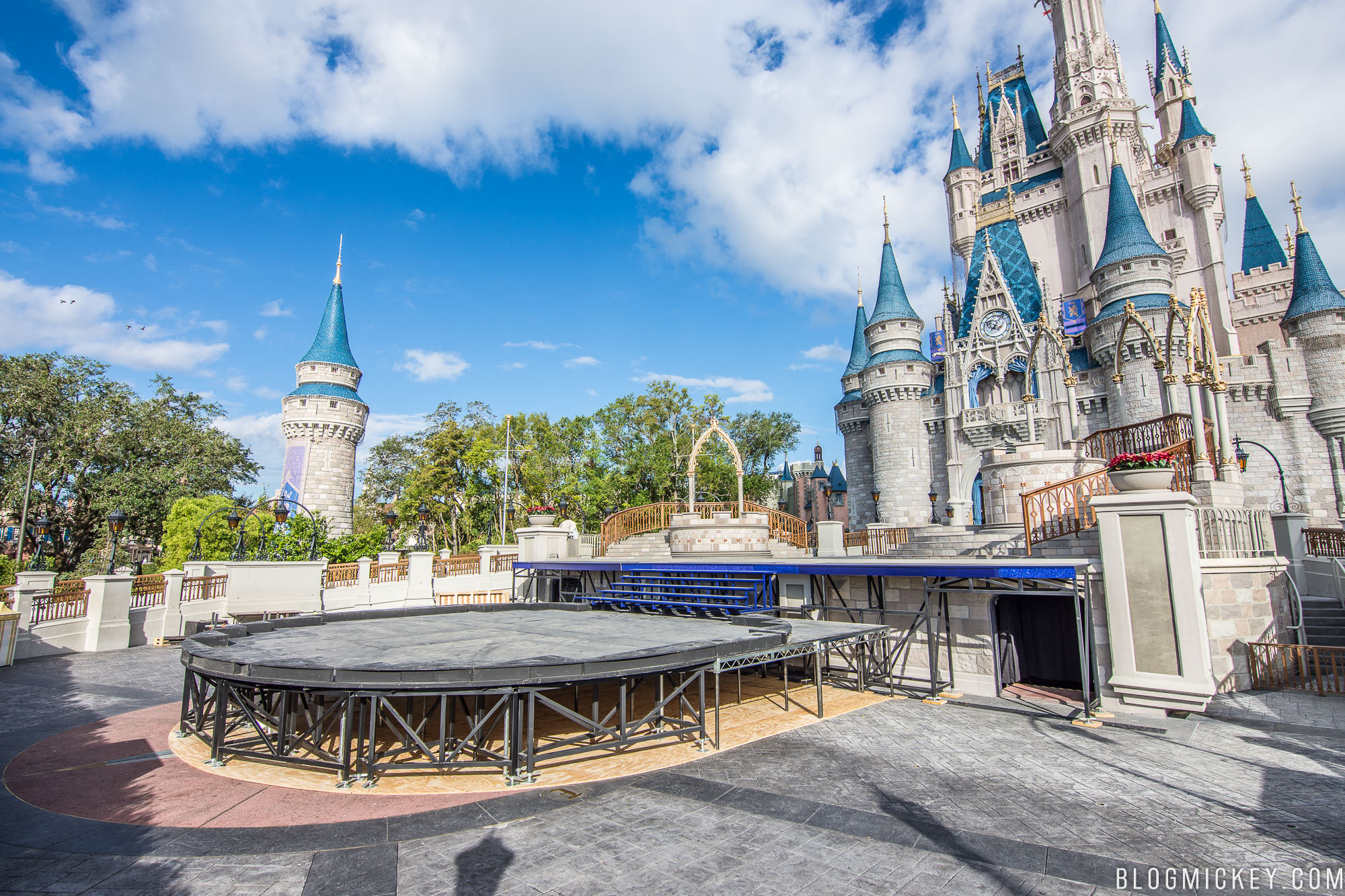 this year only the stage shows and performances are taped at walt disney world with the parade portion of the show taped at disneyland