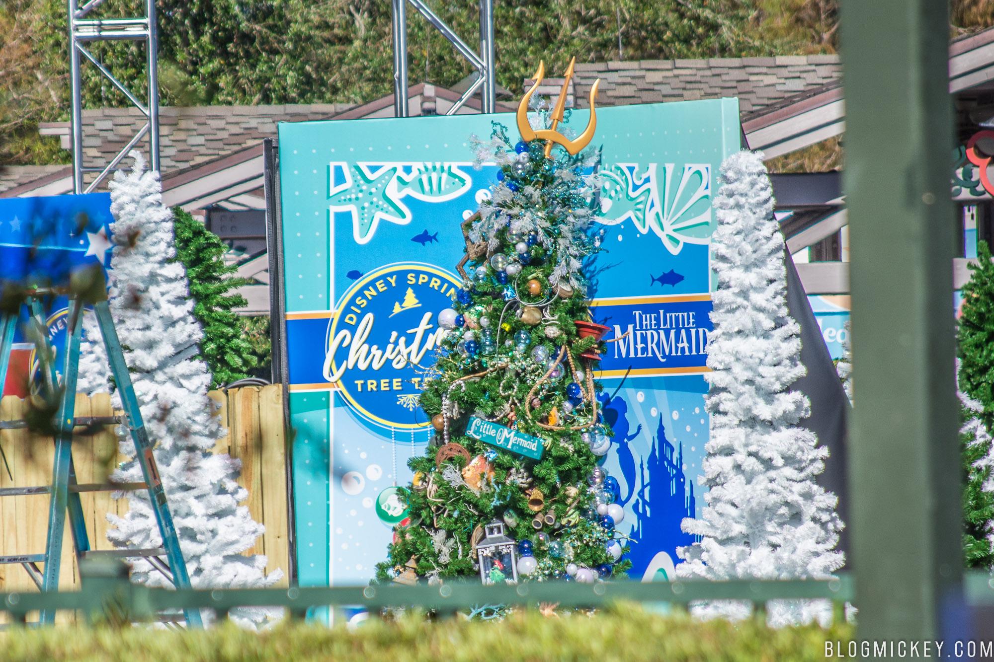 disney springs christmas tree trail preparations 11072017 7