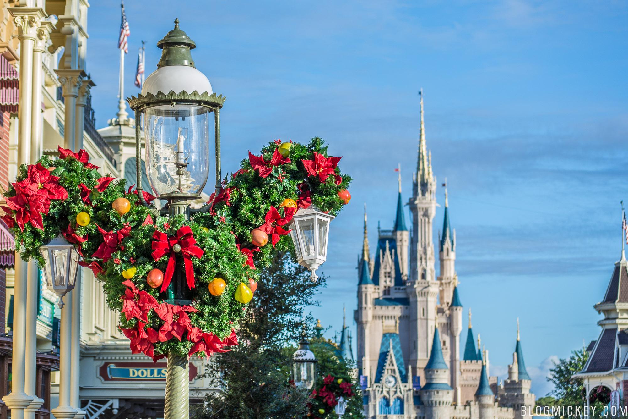 PHOTOS: Christmas Decorations Pop Up on Main Street USA at ...