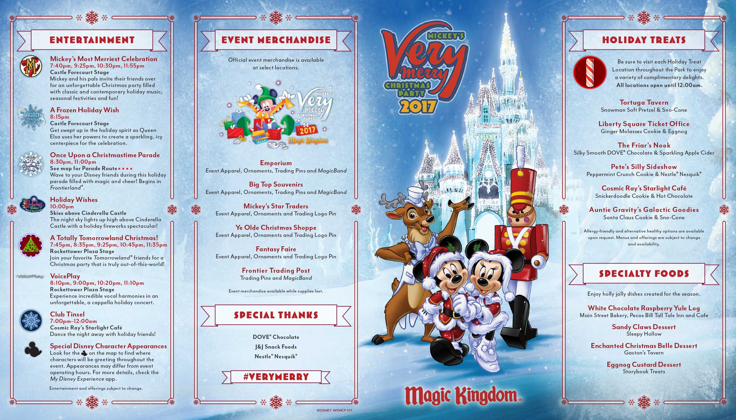 photos 2017 mickeys very merry christmas party map - Mickeys Christmas