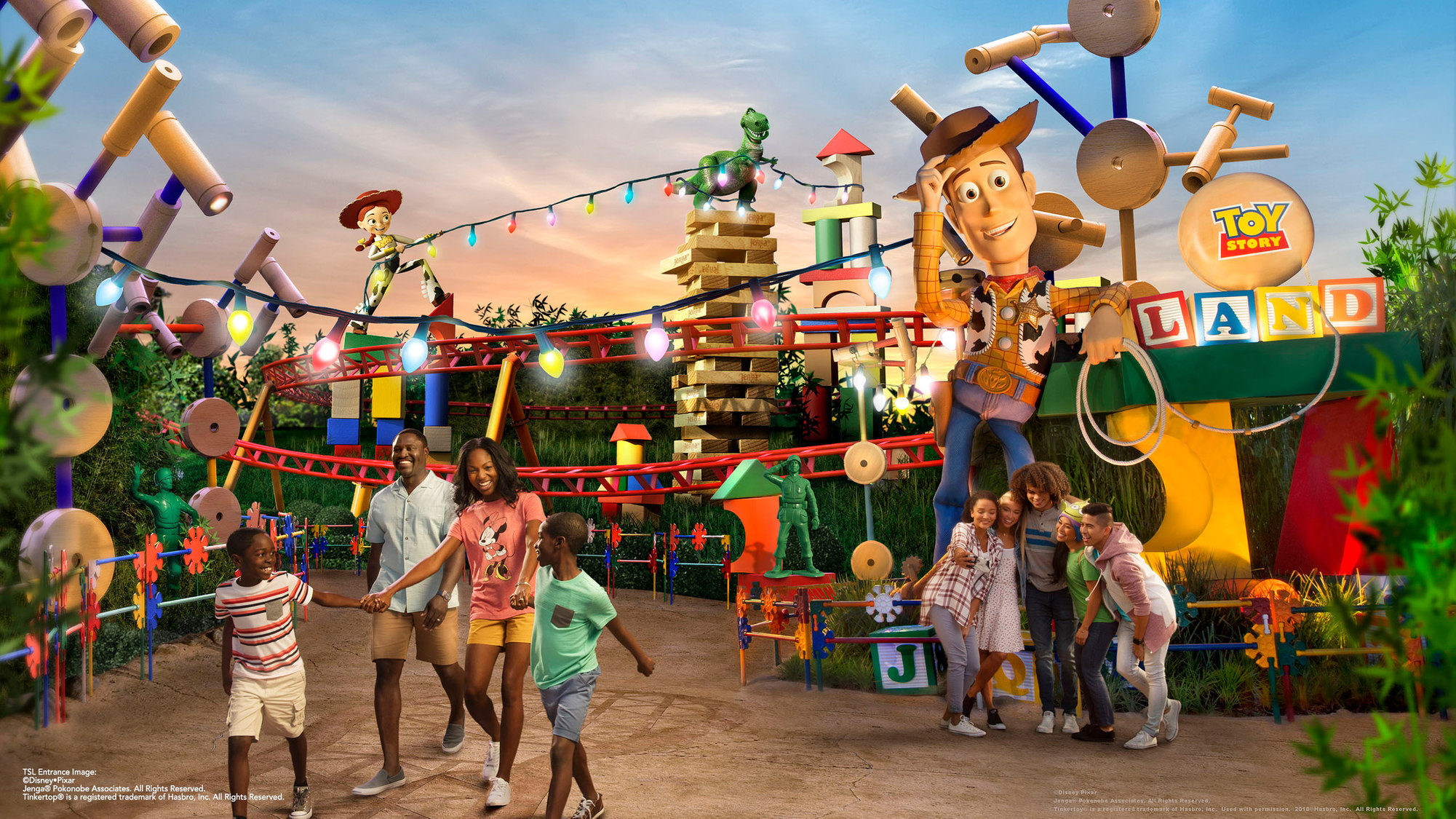 photos new slinky dog dash and toy story land entrance concept art released blog mickey. Black Bedroom Furniture Sets. Home Design Ideas