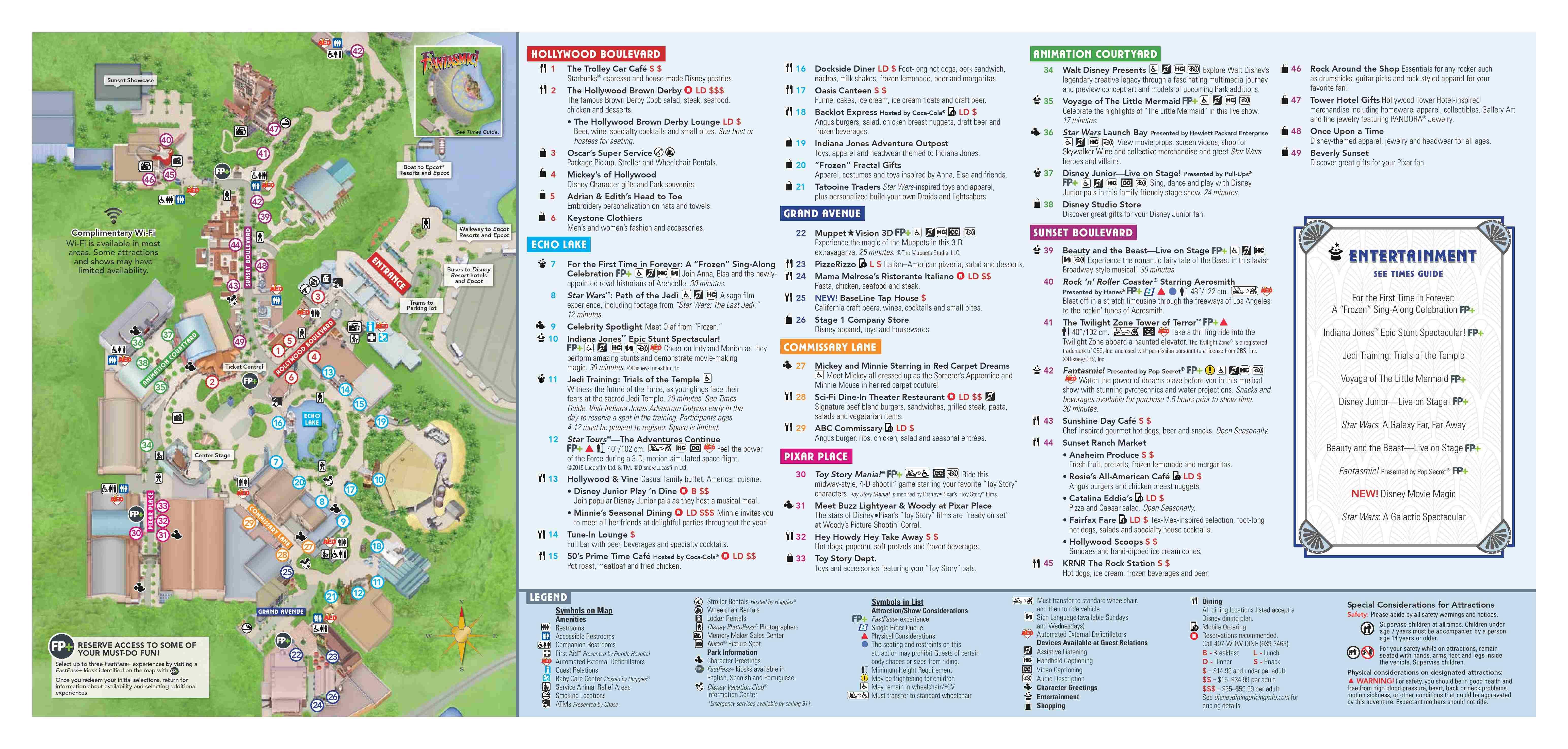 Disney World Map Hollywood Studios.Walt Disney World Park Guide Maps Blog Mickey