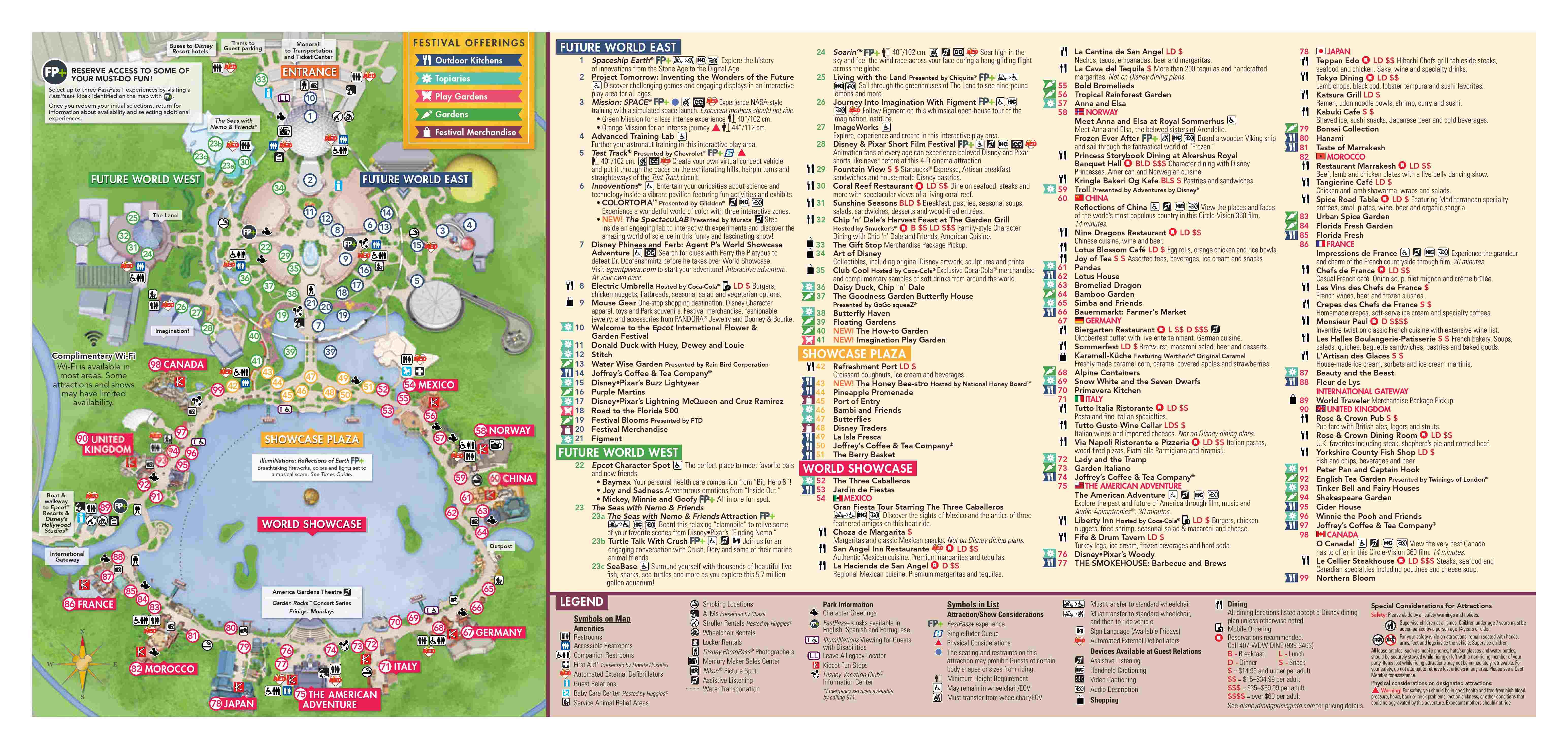 image relating to Printable Epcot Map identified as 2018 Epcot World Flower Yard Specialist Map - Weblog Mickey