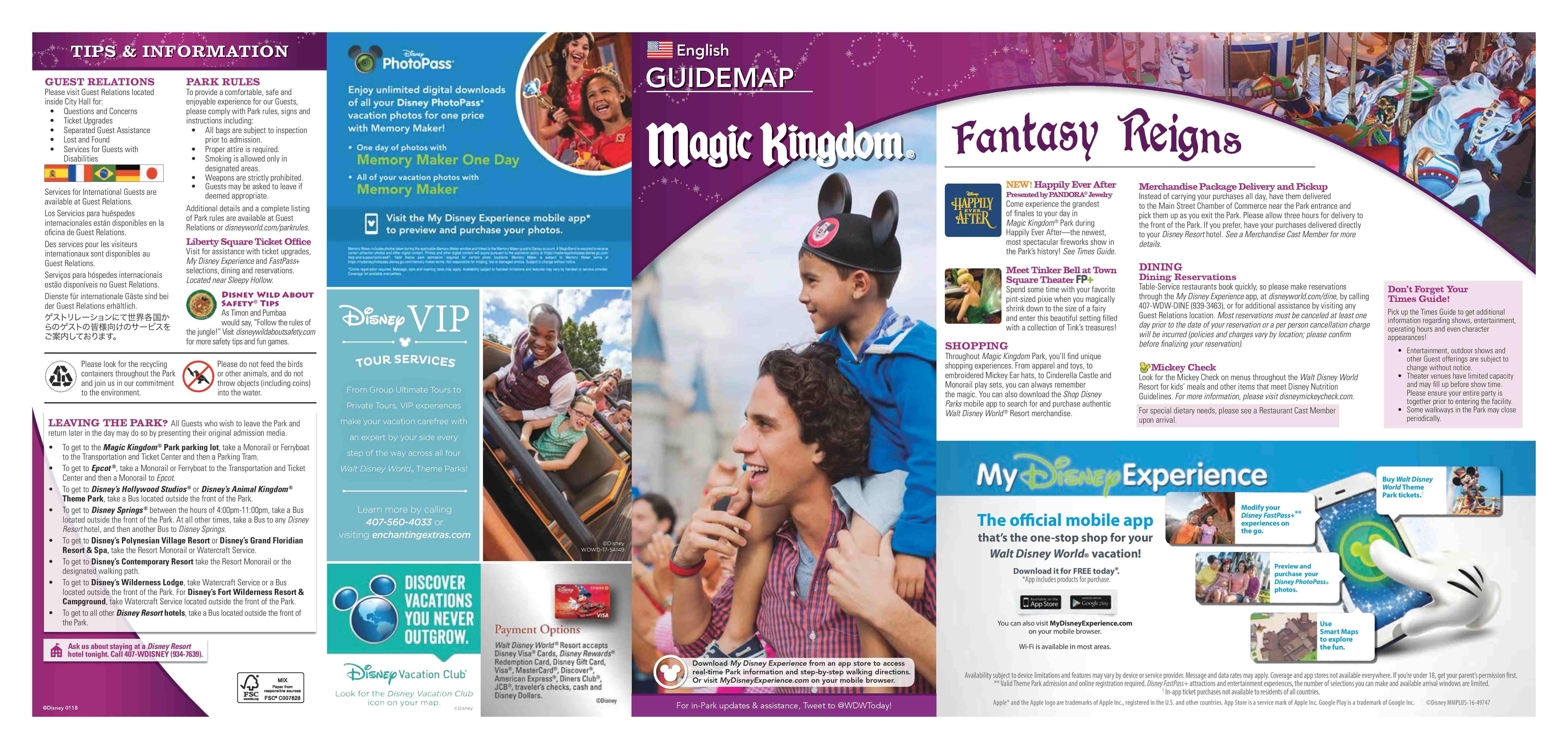 Disney World Map 2018 Pdf.Walt Disney World Park Guide Maps Blog Mickey