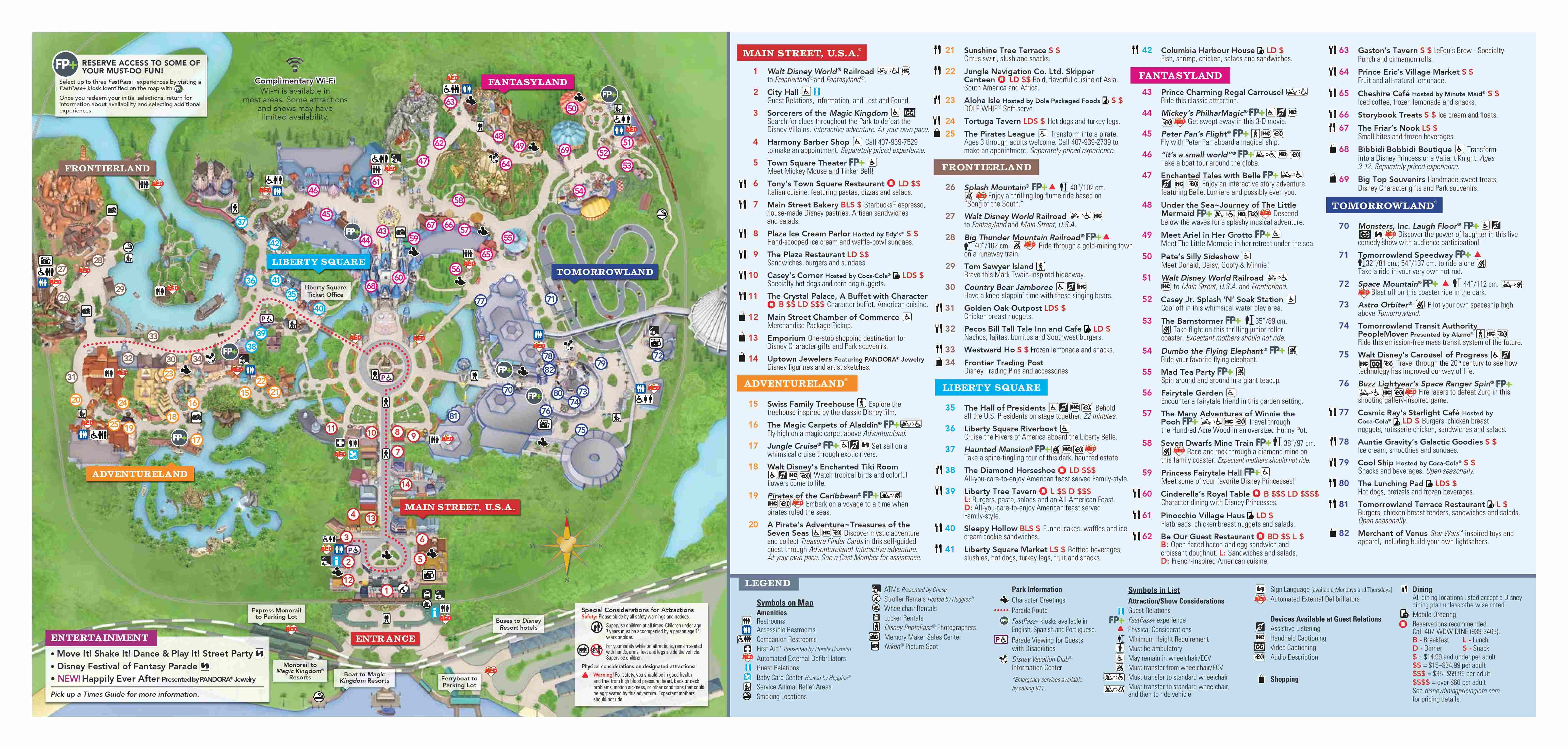 It is a picture of Tactueux Printable Disney World Maps 2020