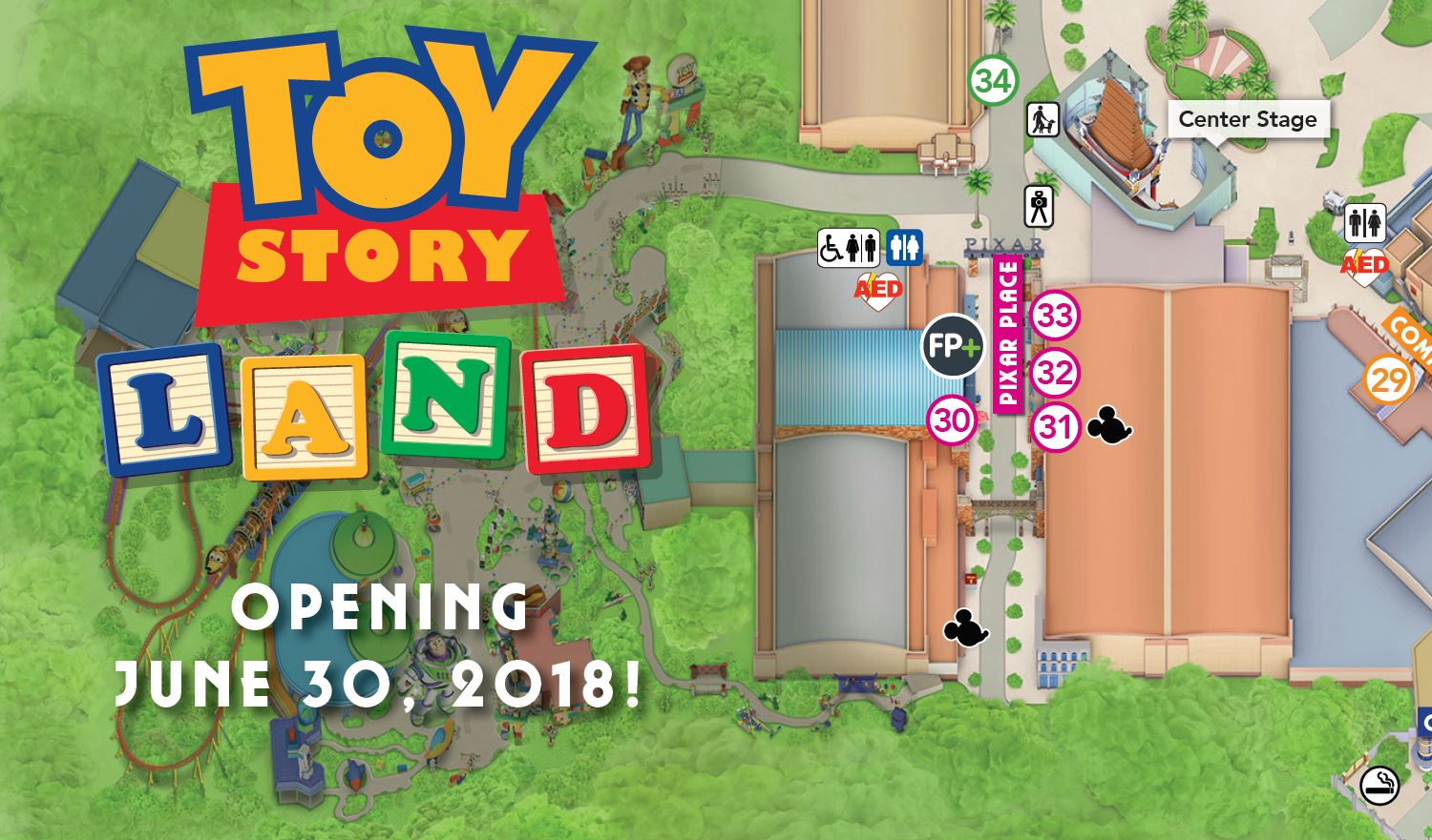 PHOTOS: Toy Story Land Added to Updated Guide Map for ...