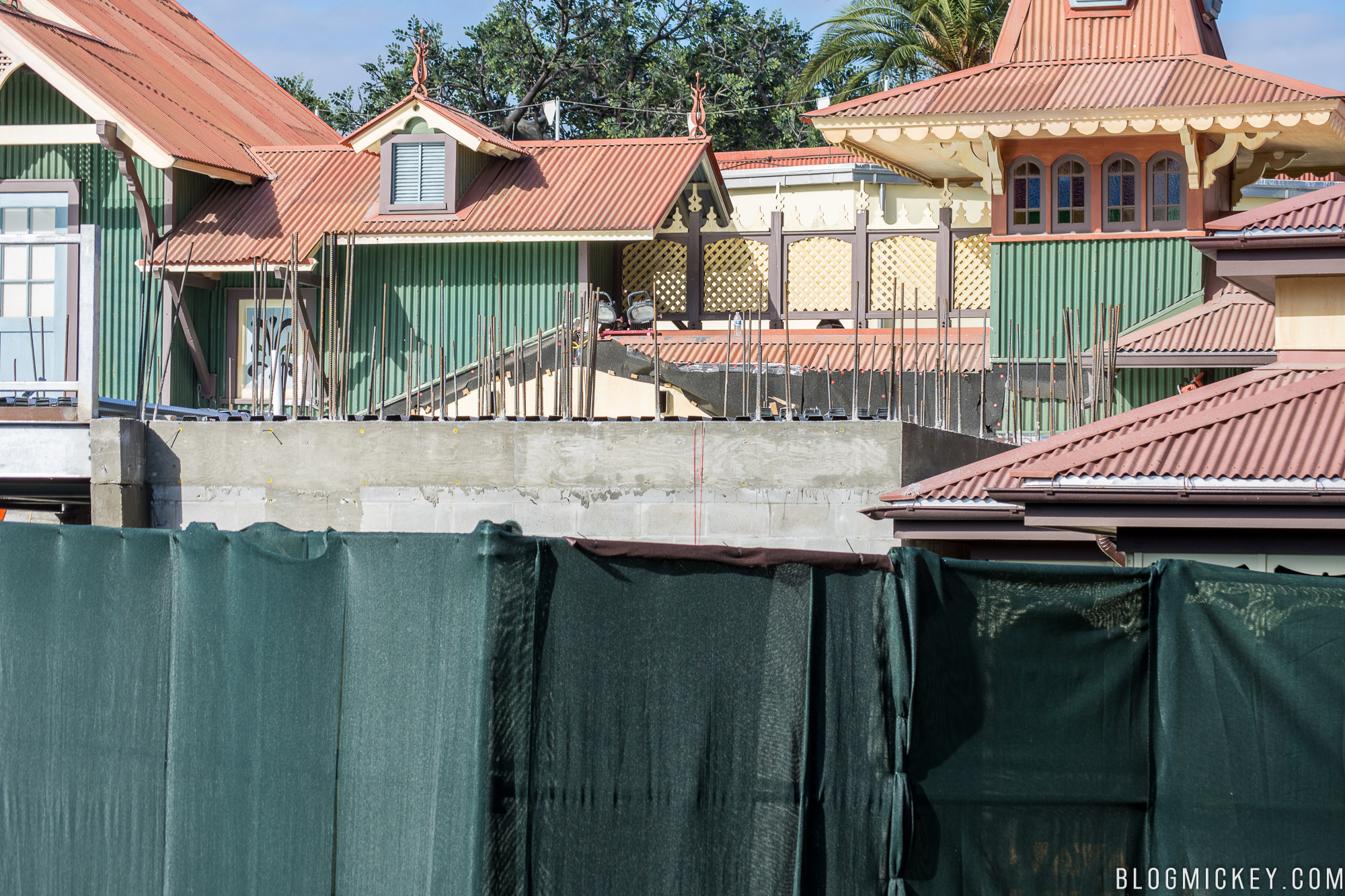 Magic Kingdom Club 33 construction