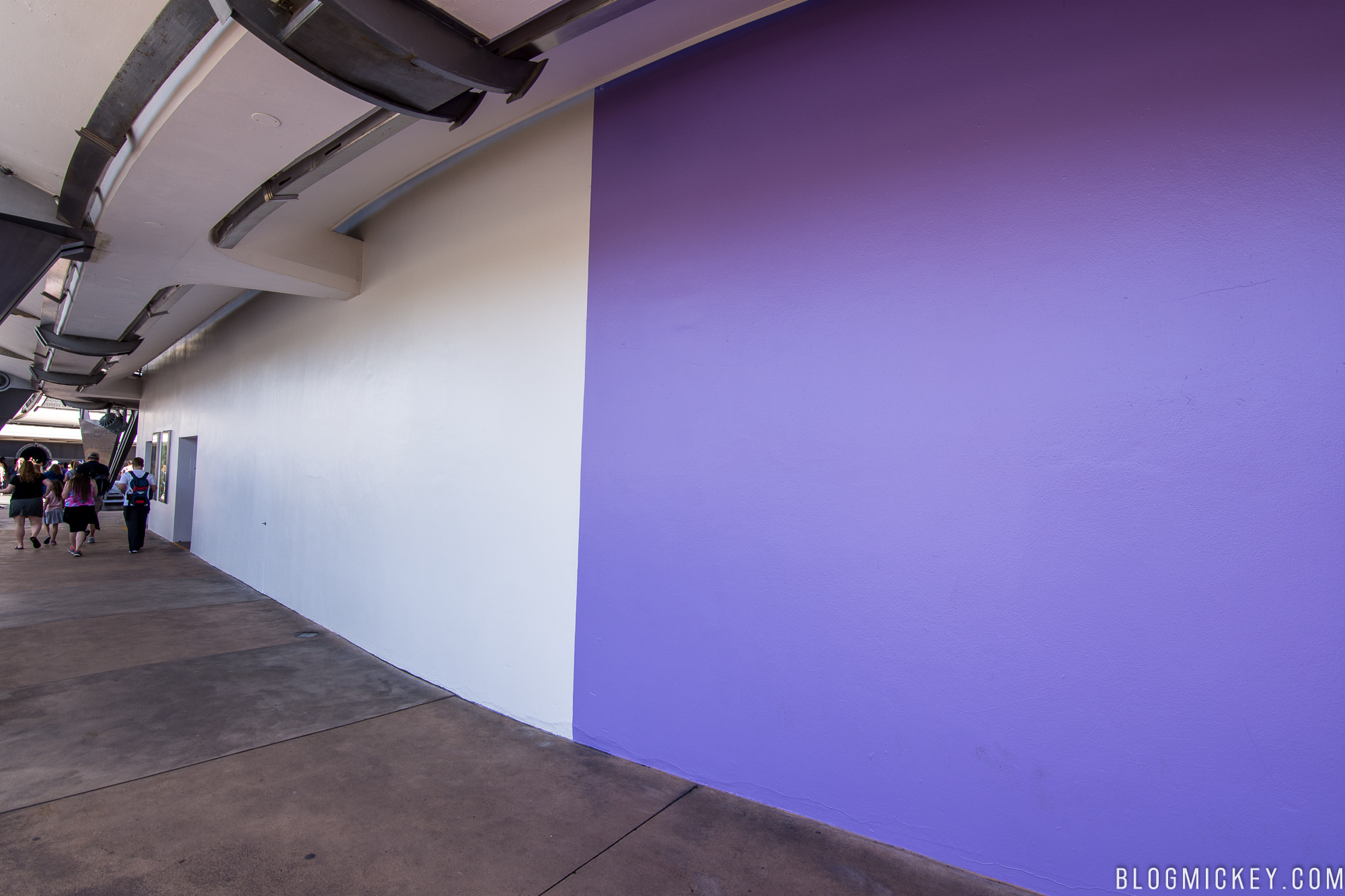 Famous Purple Wall Being Repainted For Enhanced Spring