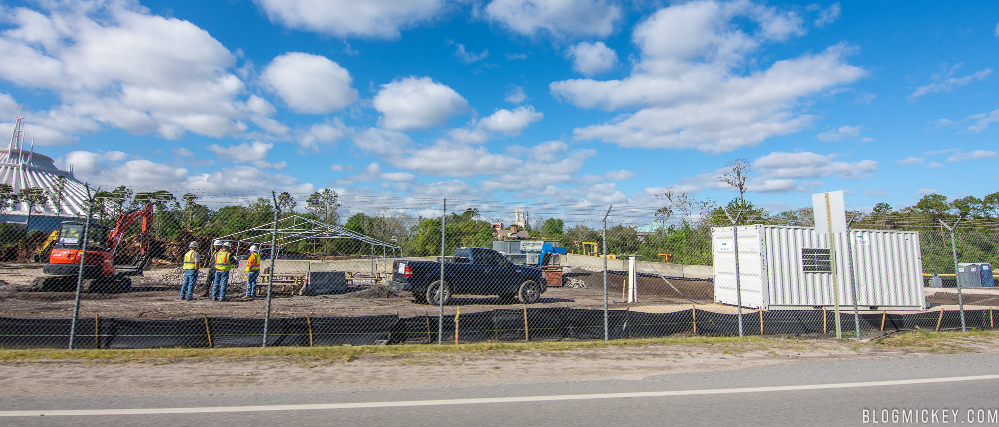 Tron Roller Coaster Construction in Magic Kingdom