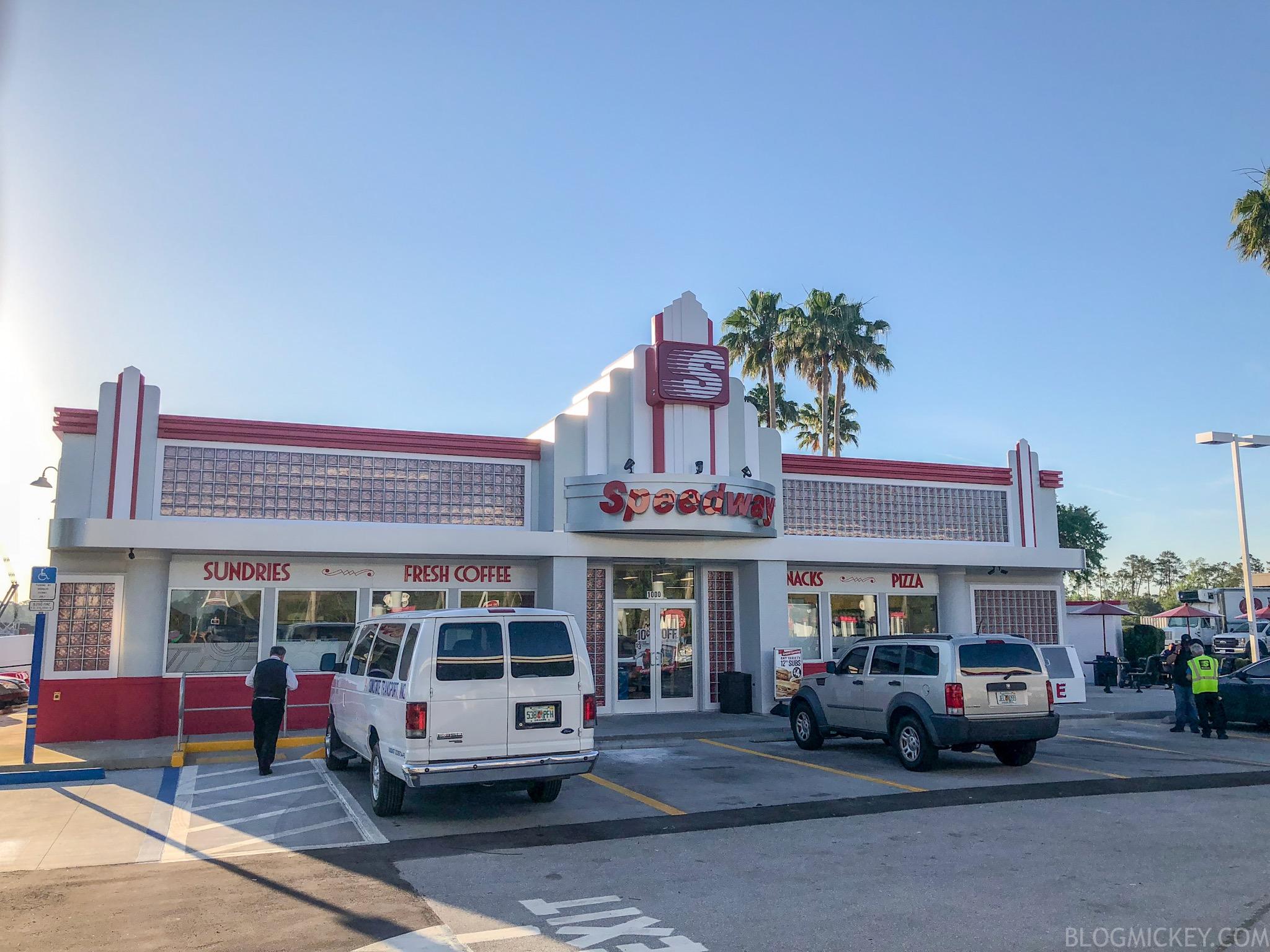 Photos Renovated Magic Kingdom Speedway Gas Station Now