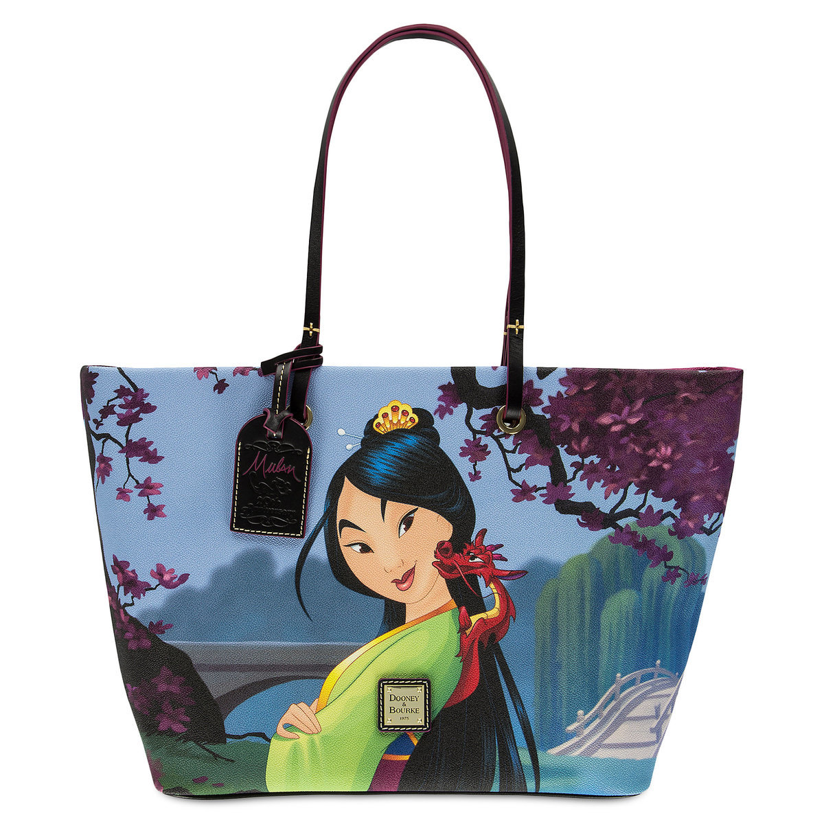 Dooney Bourke Embossed Metal Label On Front Since 1975 Leather Inside Mulan 20th Anniversary Tag