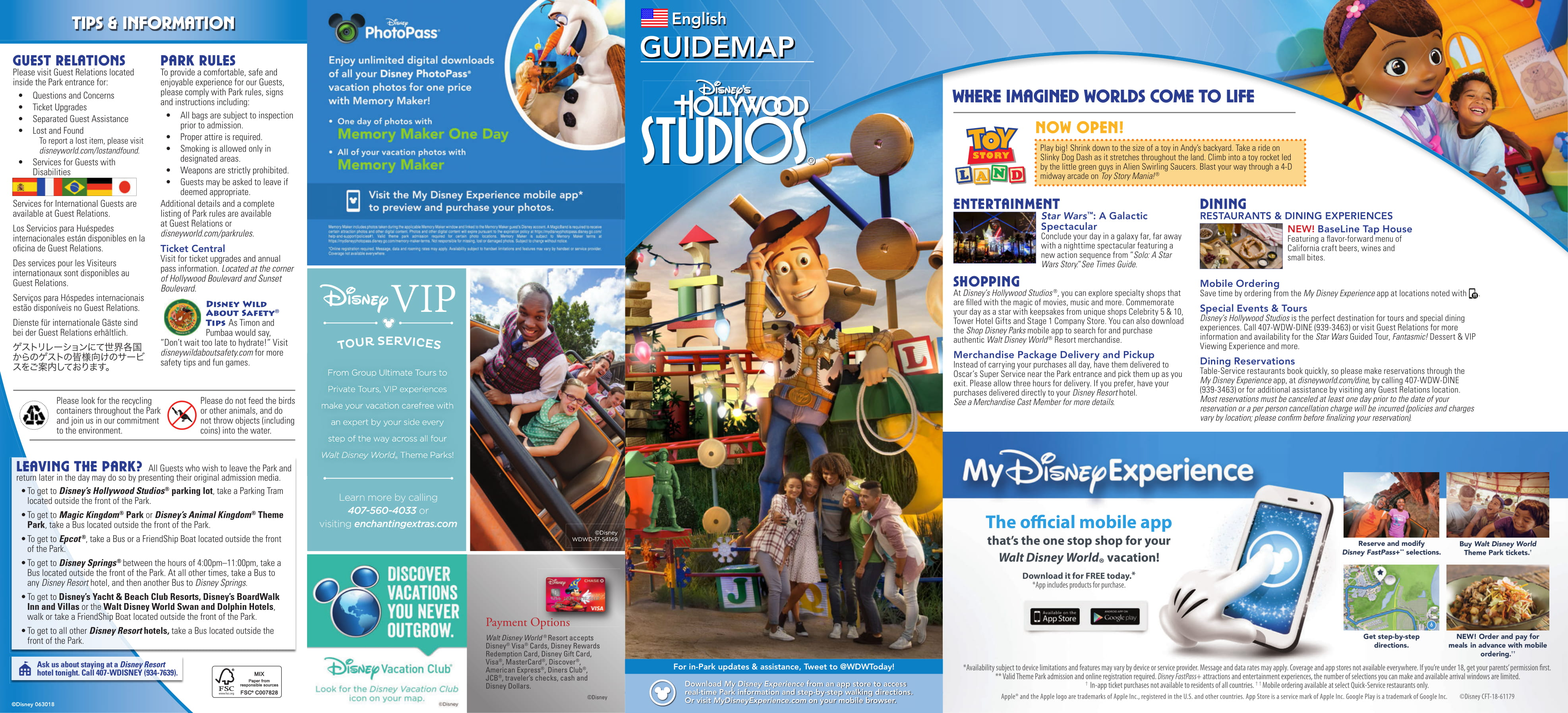 PHOTOS: New Guide Map for Disney\'s Hollywood Studios ...