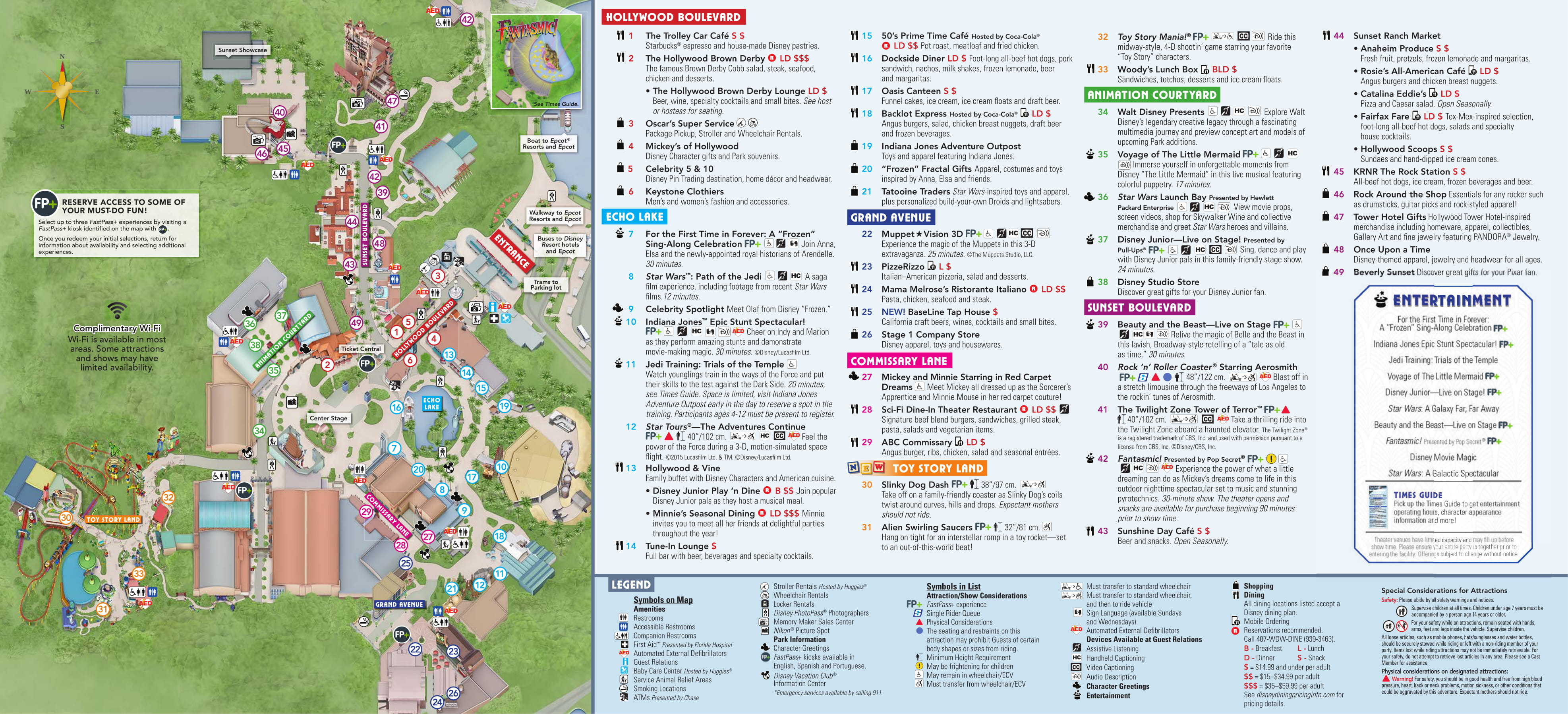 PHOTOS: New Guide Map for Disney\'s Hollywood Studios Features Toy ...