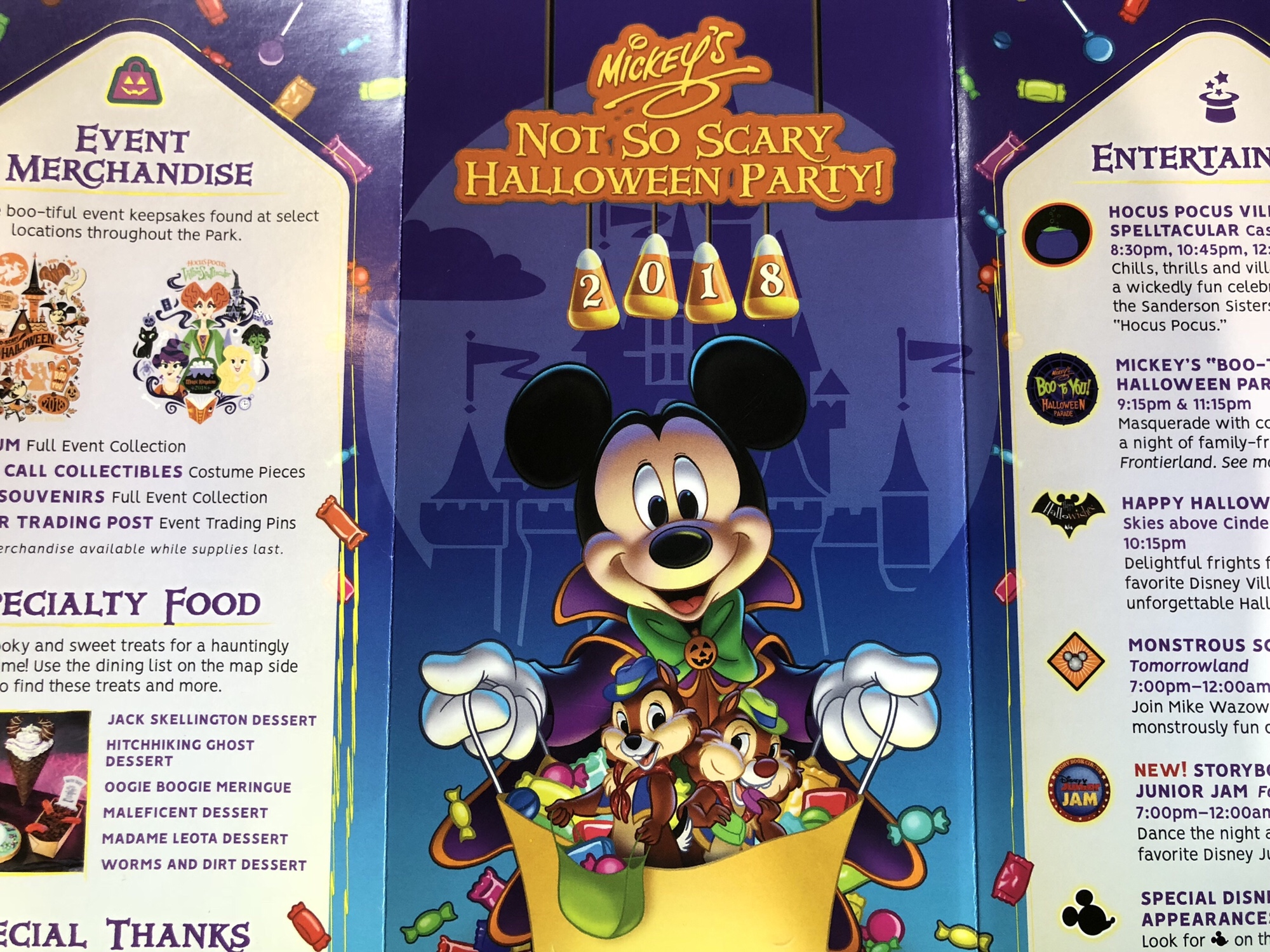 2018 mickeys not so scary halloween party guidemap