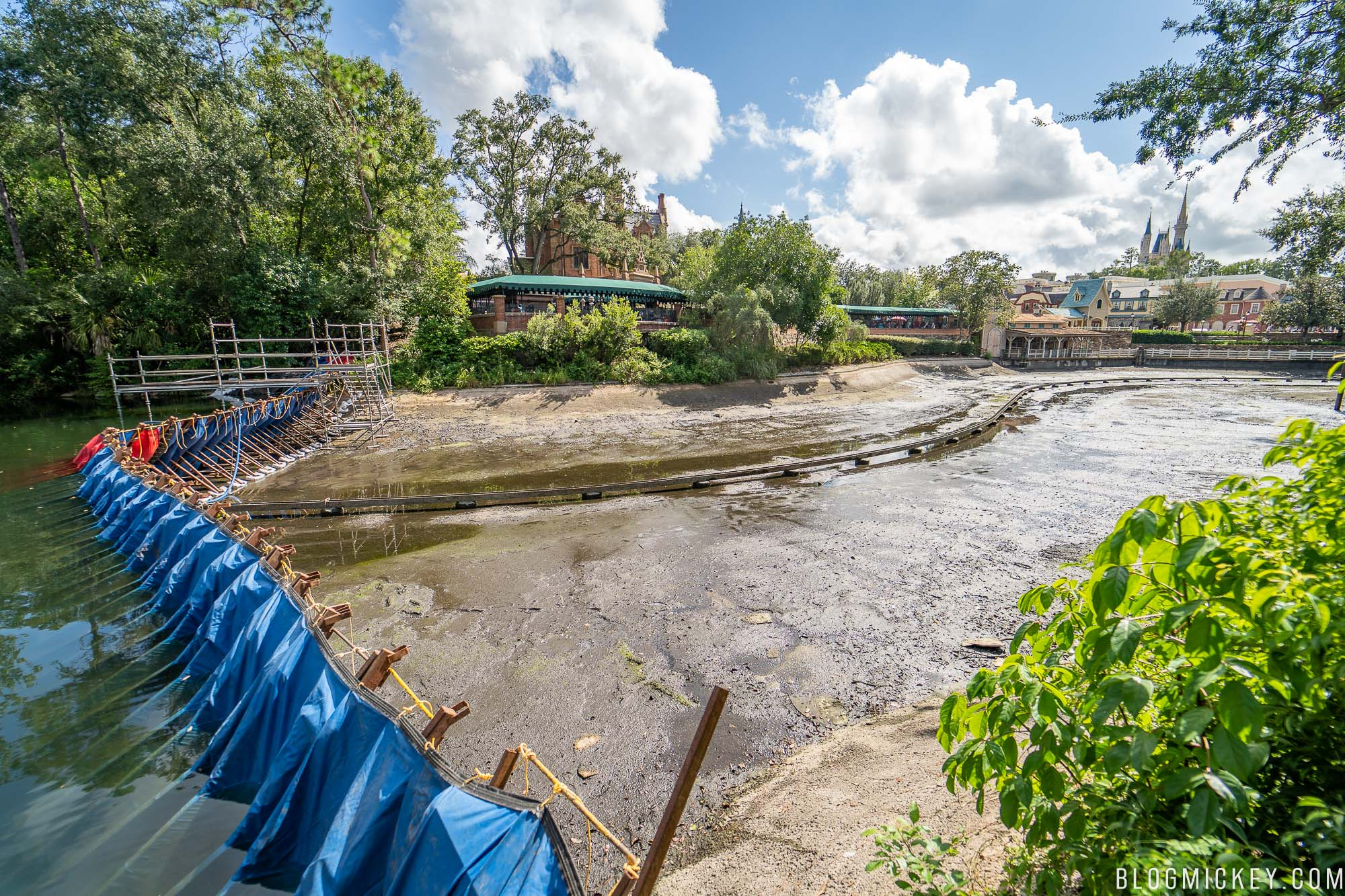 Photos Rivers Of America Drained At Magic Kingdom Blog