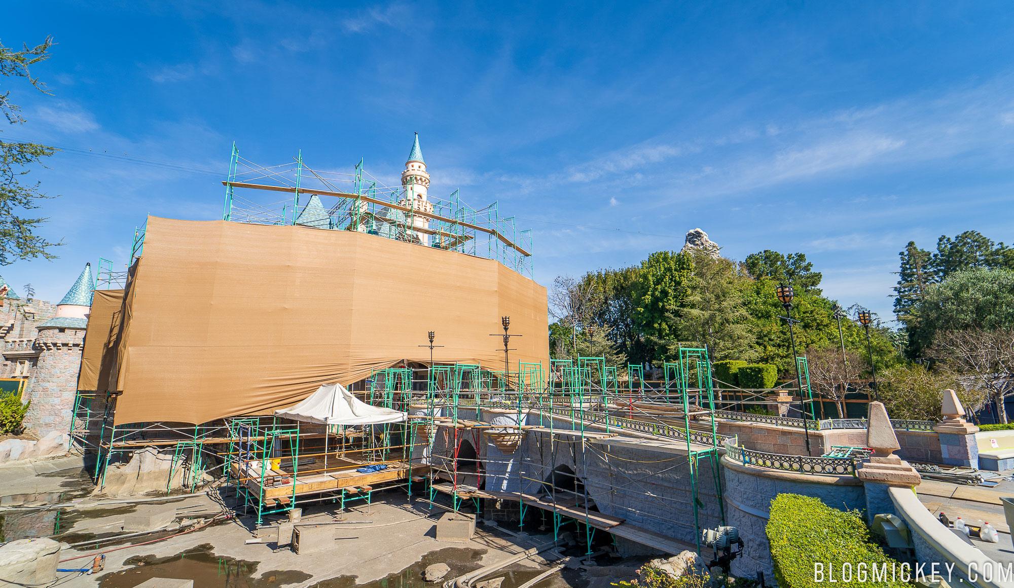 Photos Sleeping Beauty Castle Renovation Project At Disneyland January 2019
