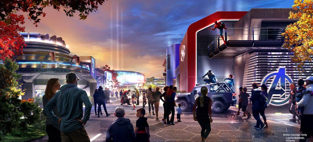 Marvel Land concept art - Walt Disney Studios Park
