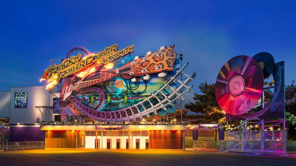 Rock 'n' Roller Coaster featuring Aerosmith at Walt Disney Studios Park