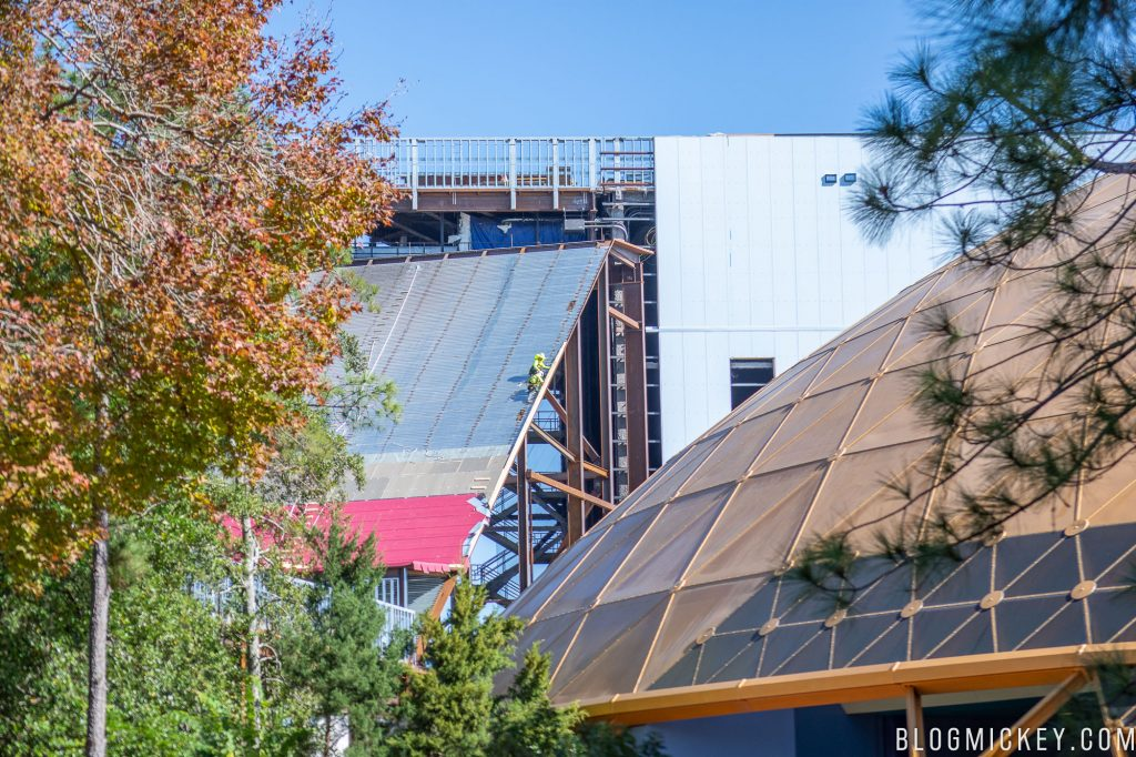Guardians of the Galaxy roller coaster construction