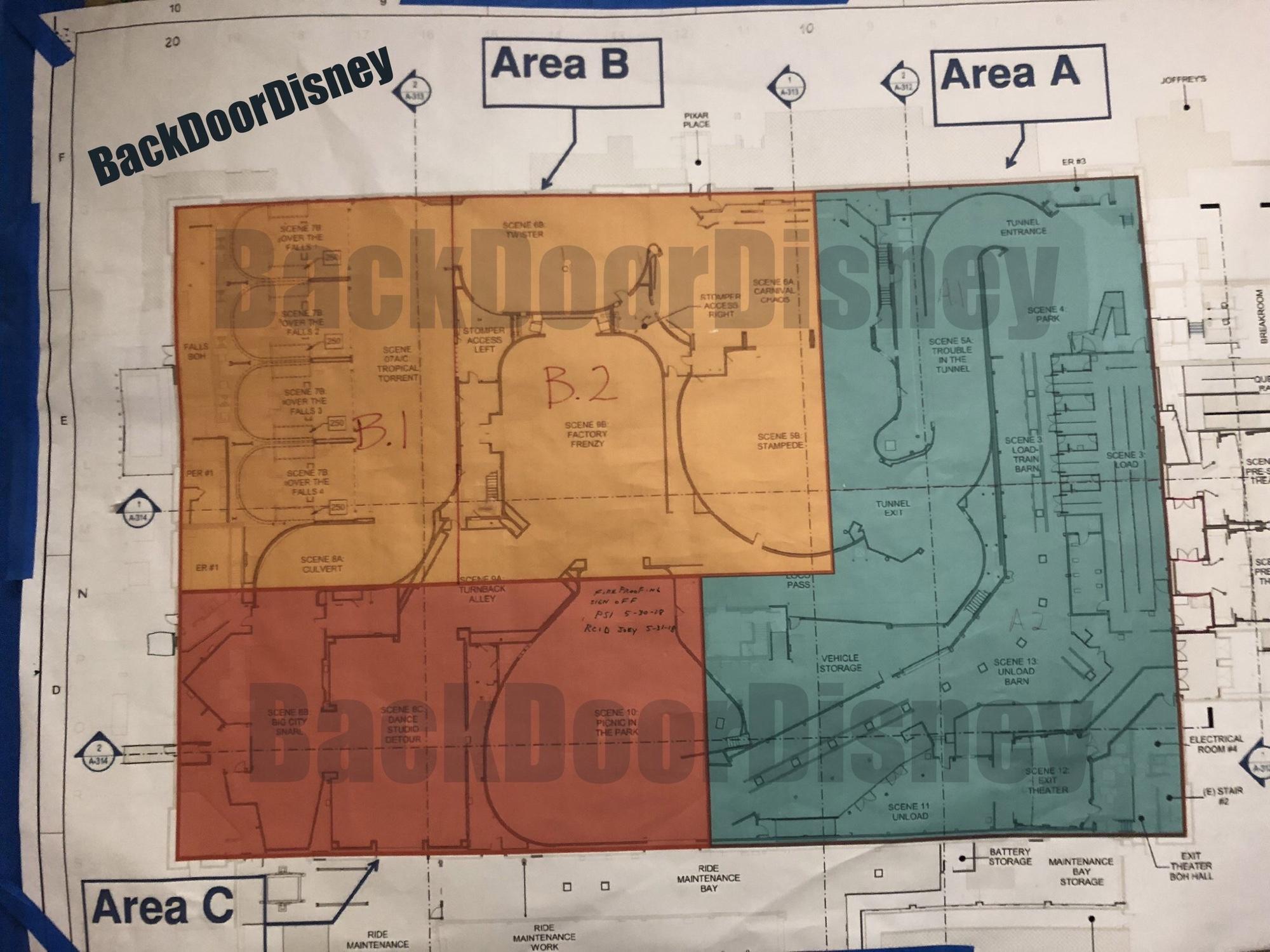 Blueprints for Mickey and Minnie's Runaway Railway