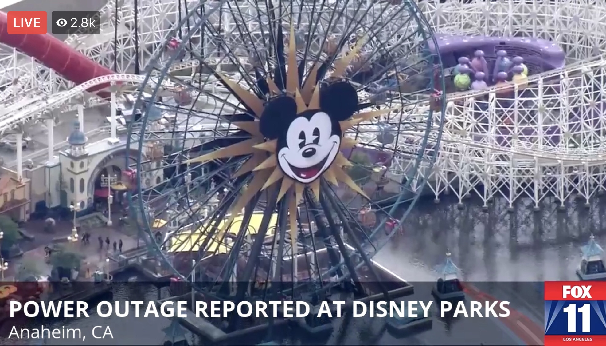 Power Outage Reported at Disneyland Resort