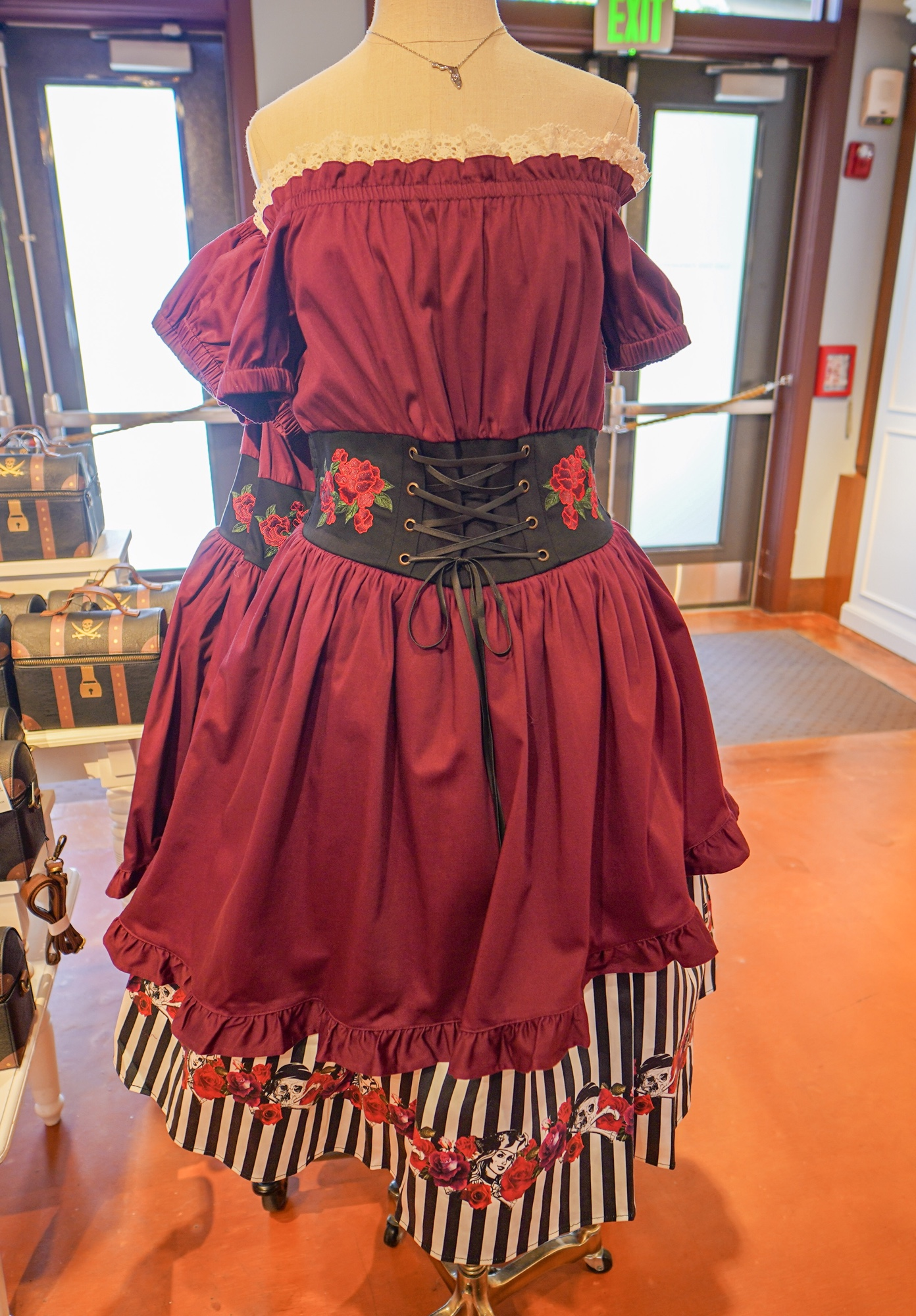 New Redd Pirate Dress and Treasure Chest Handbag Available at The
