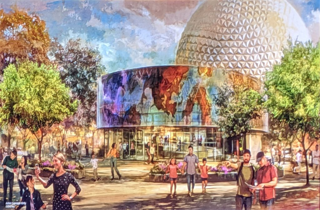 Image result for epcot spaceship earth refurbishment
