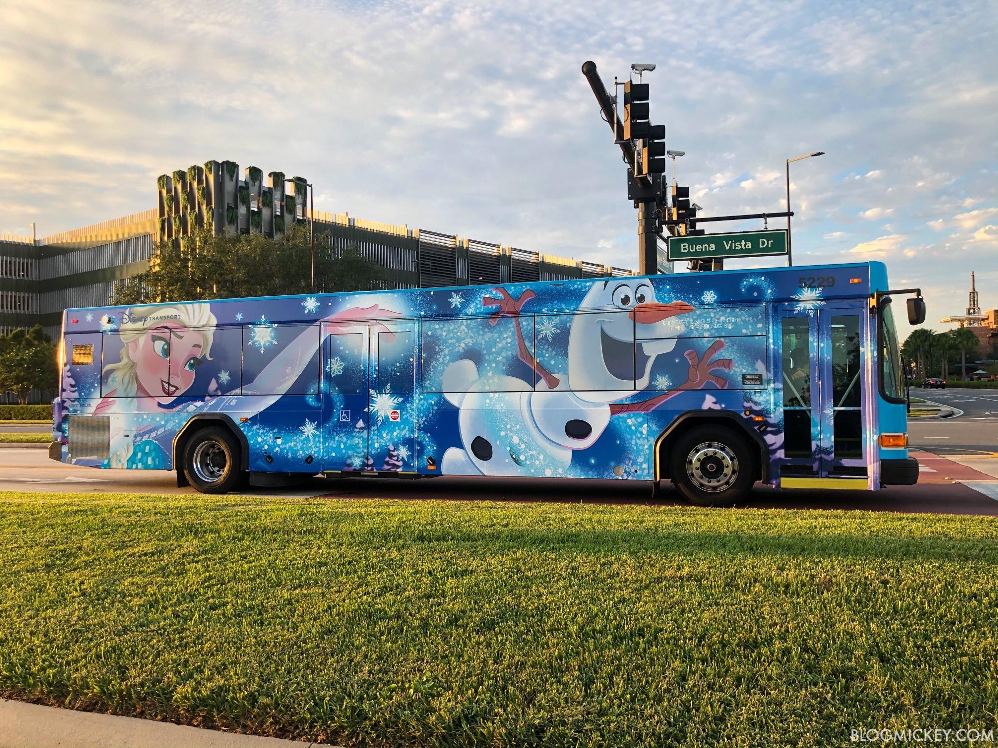Frozen Themed Character Bus Joins Fleet At Walt Disney World
