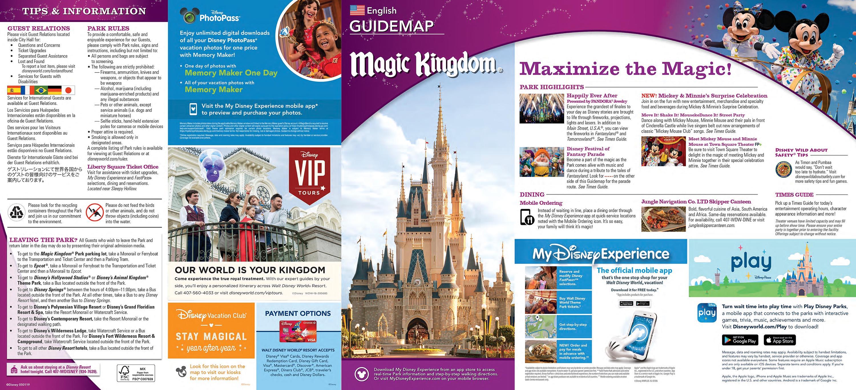 Walt Disney World Park Guide Maps - Blog Mickey