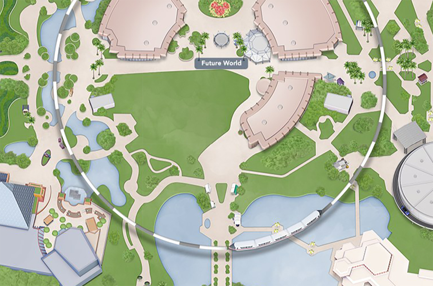 New Epcot Map Shows the Removal of Fountain of Nations, Club ...