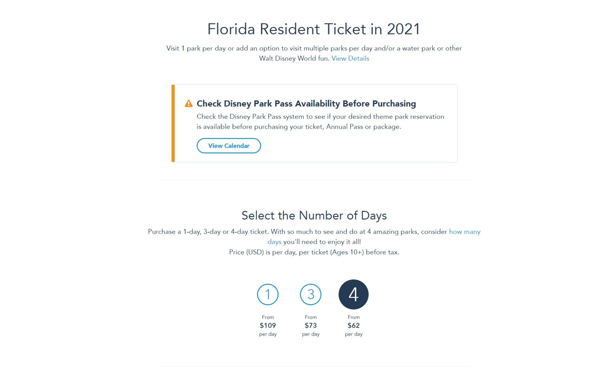 2021 Florida Resident Tickets Now On Sale